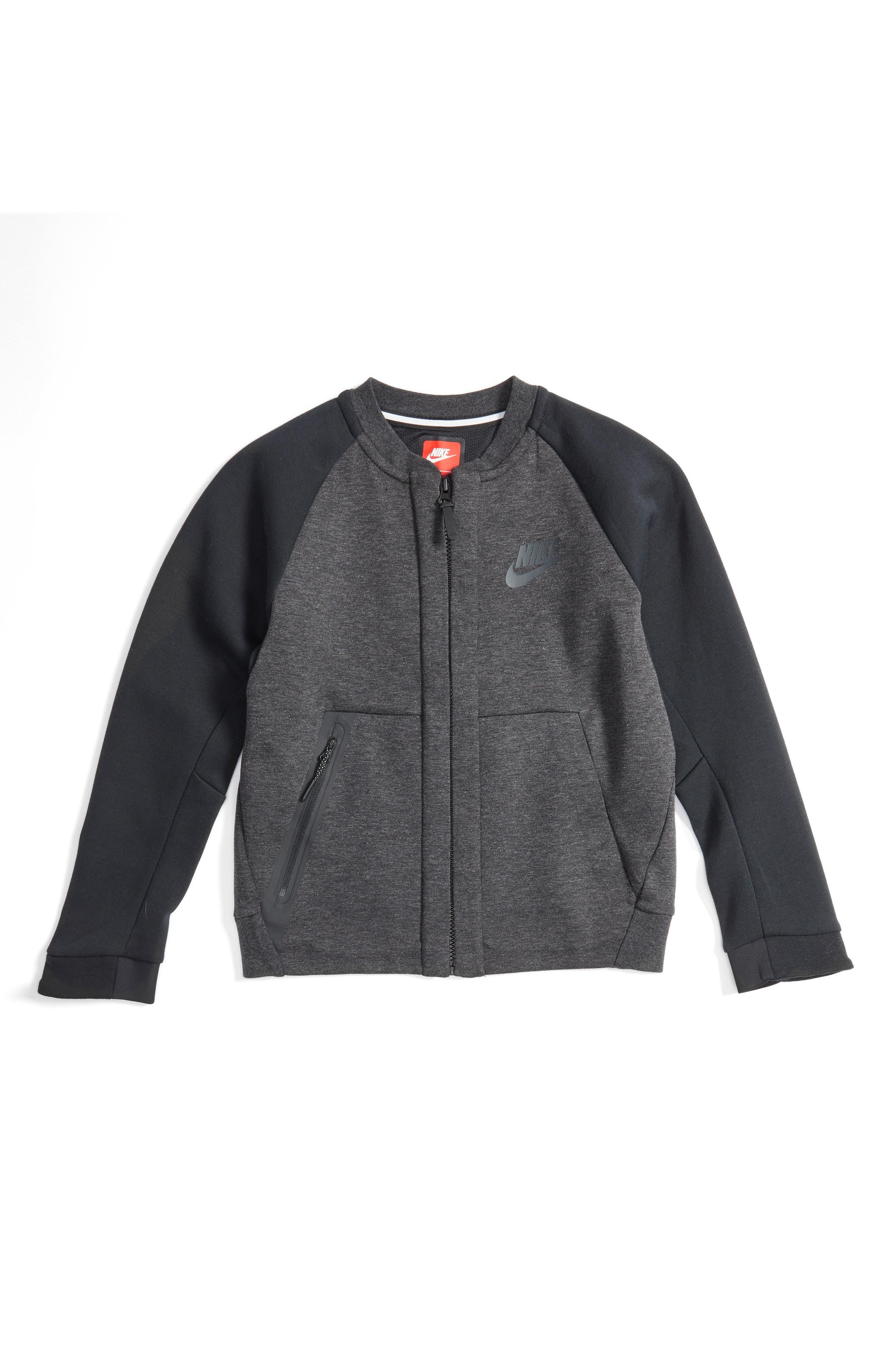 Sportswear Tech Fleece Bomber Jacket,                             Main thumbnail 1, color,                             Blk H/ Anthra