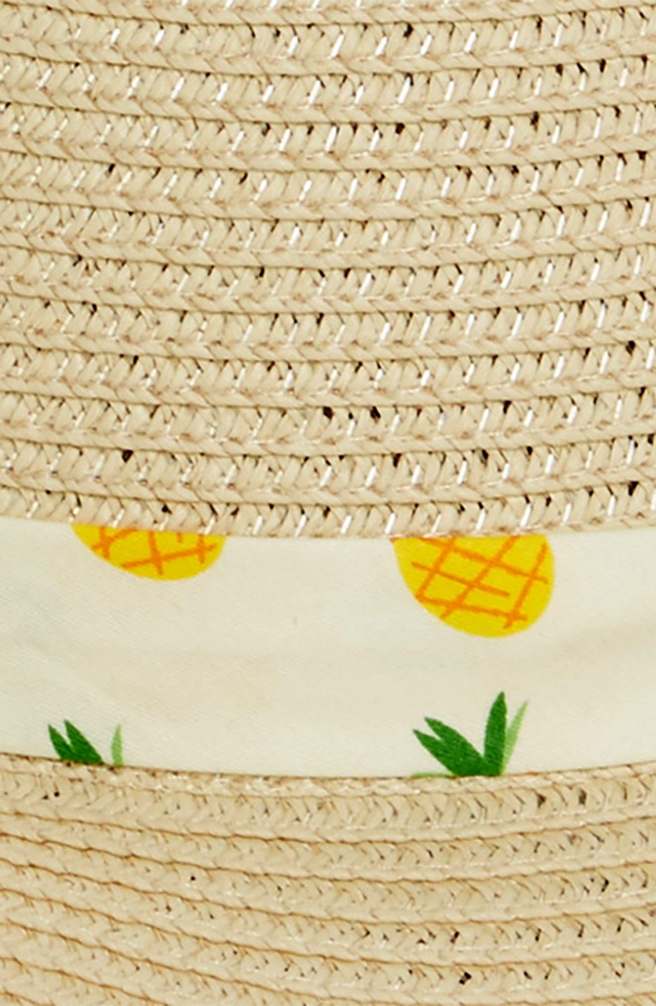 Novelty Band Floppy Straw Hat,                             Alternate thumbnail 2, color,                             Natural/ Multi