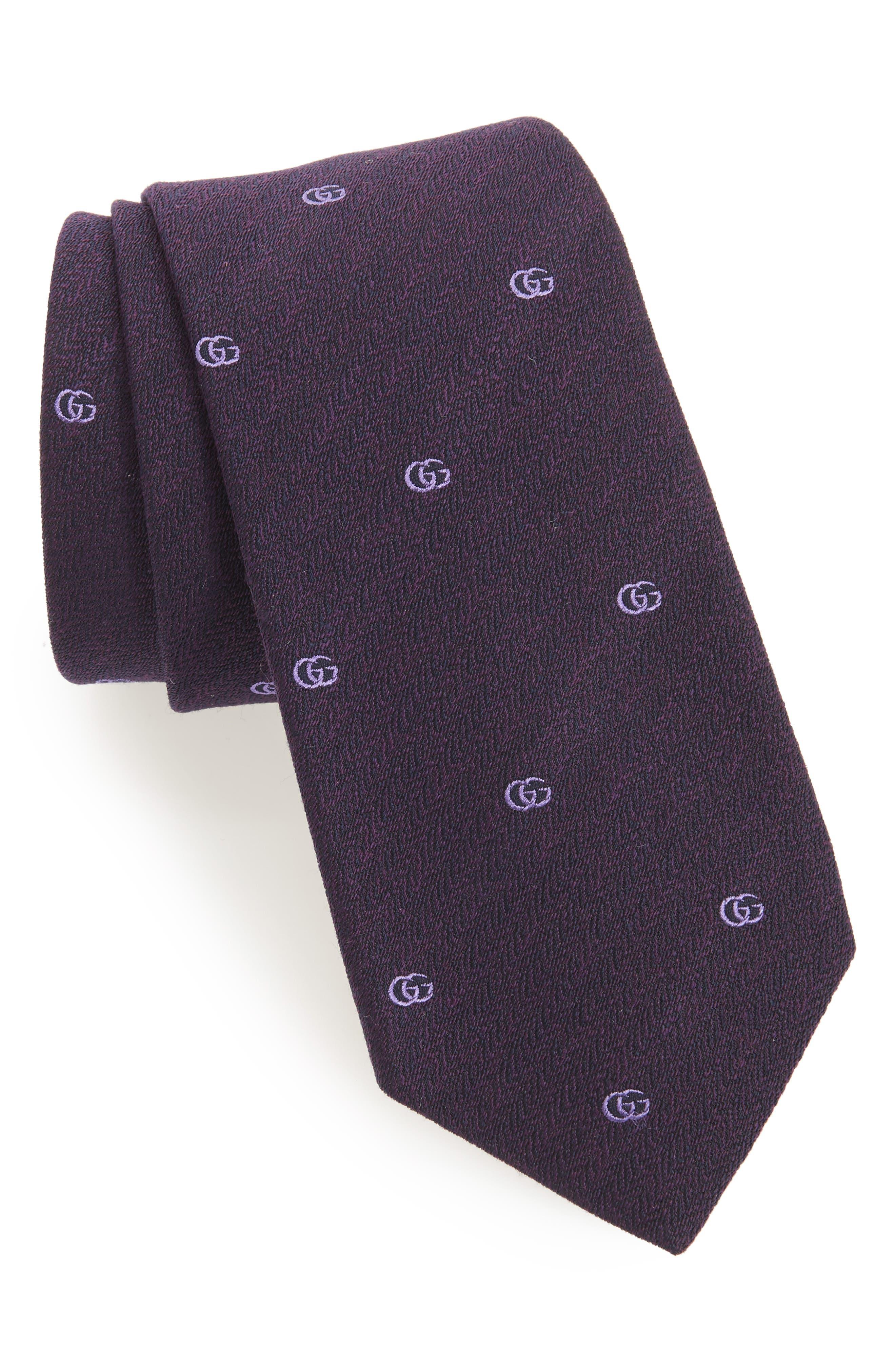 GUCCI GG Chevron Jacquard Tie
