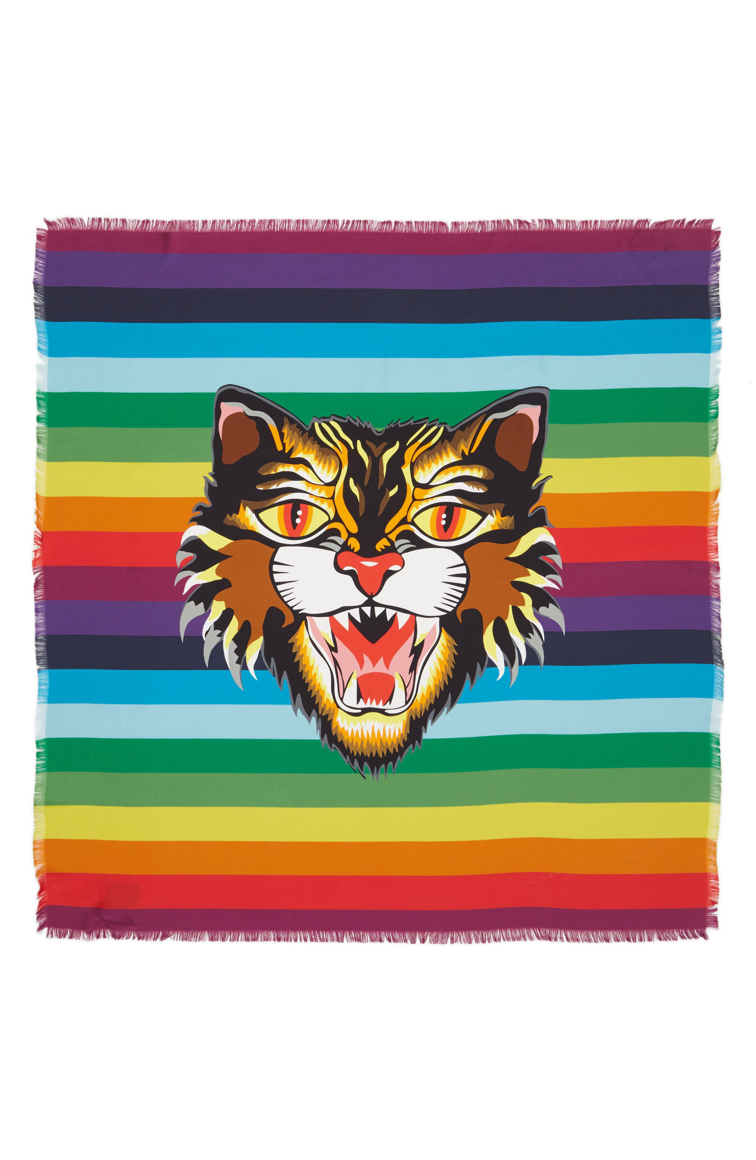Alternate Image 1 Selected - Gucci Crazy Tiger Square Silk Scarf