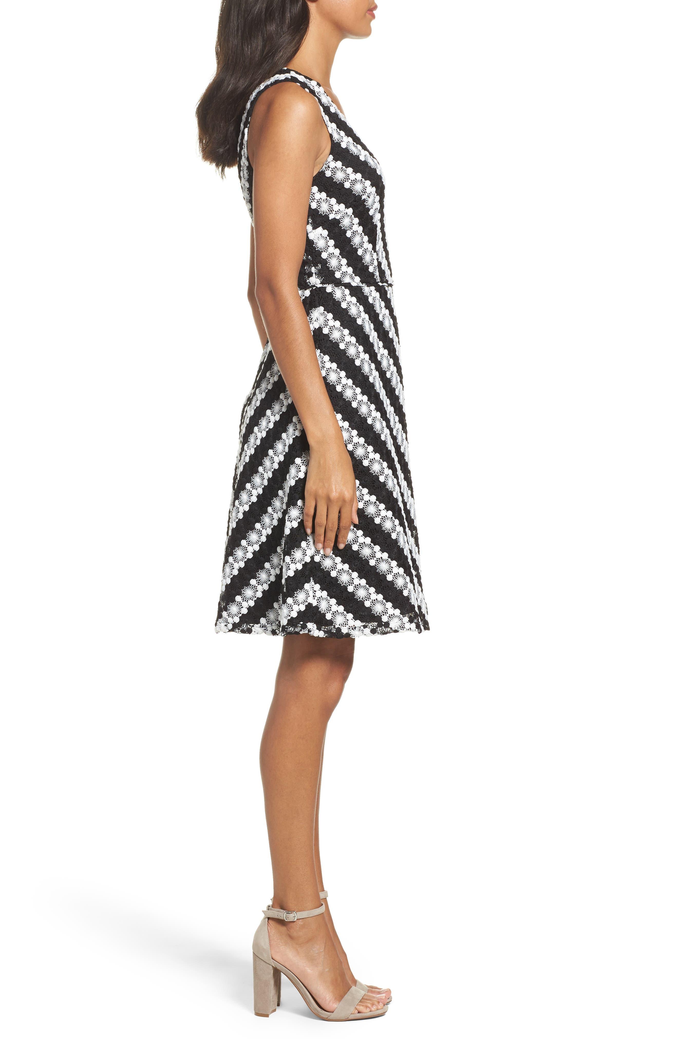 Alternate Image 3  - Adrianna Papell Fit & Flare Dress (Regular & Petite)