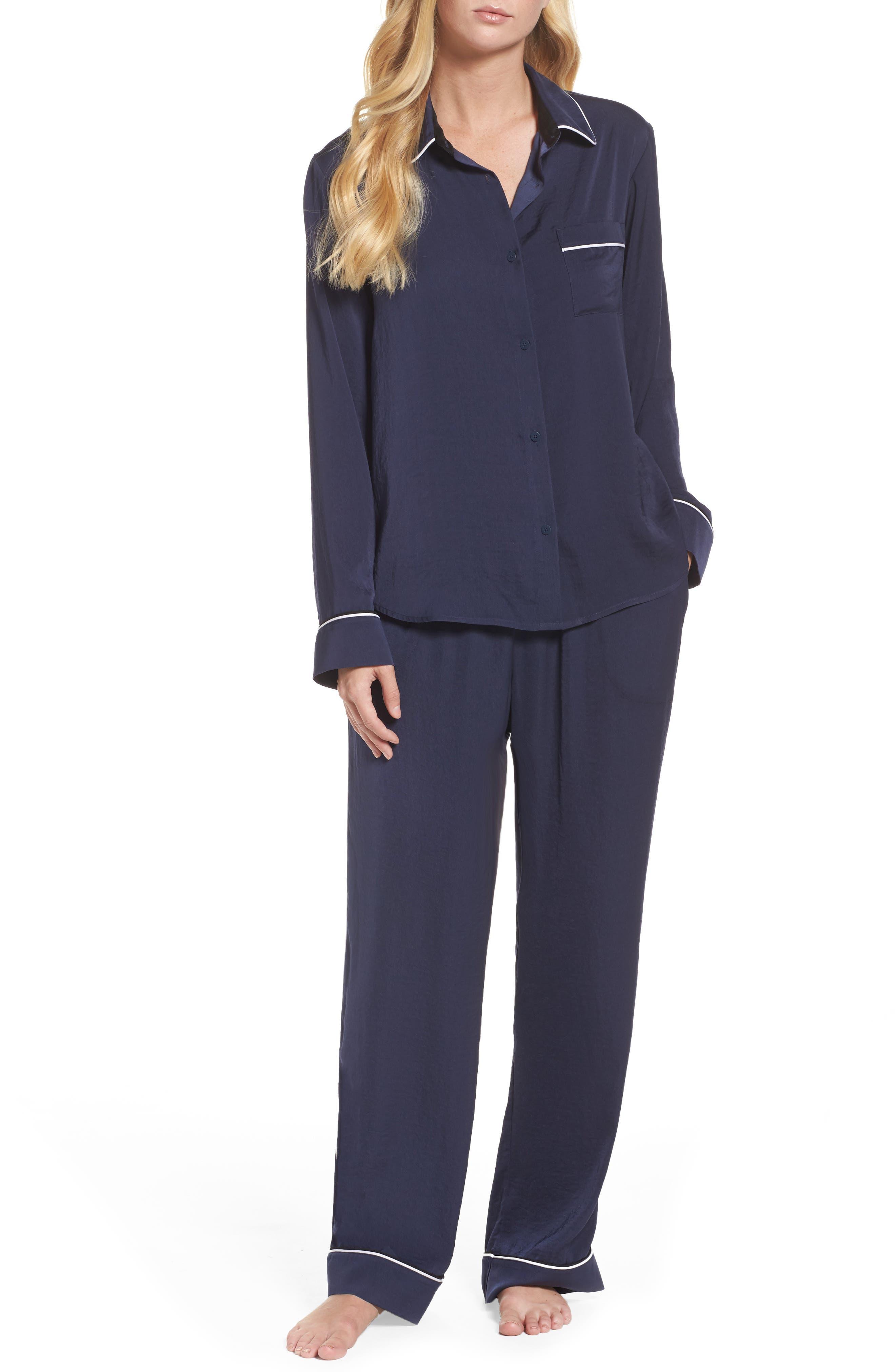 Long Pajamas,                         Main,                         color, Ink