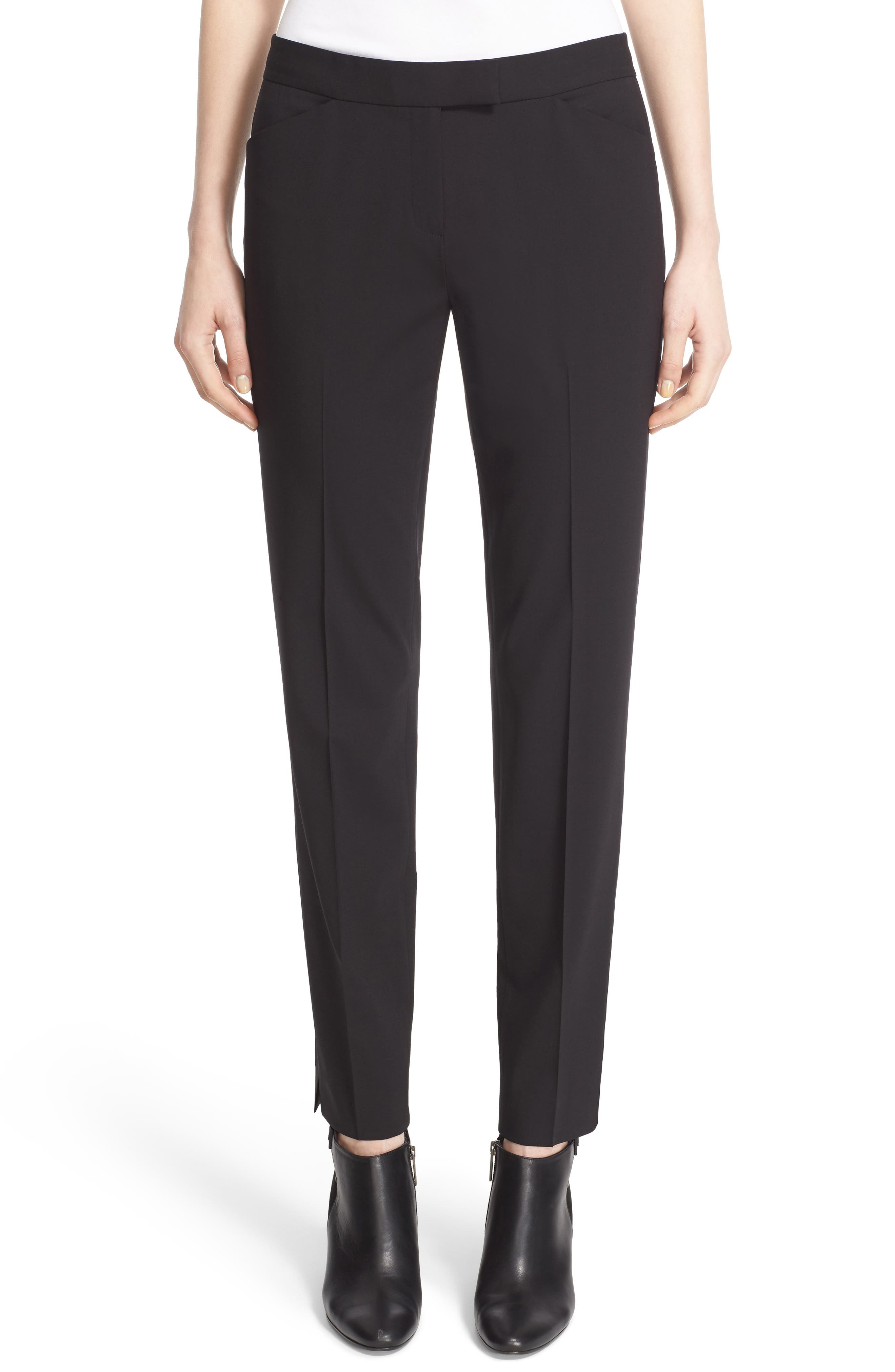Irving Stretch Wool Pants,                         Main,                         color, Black