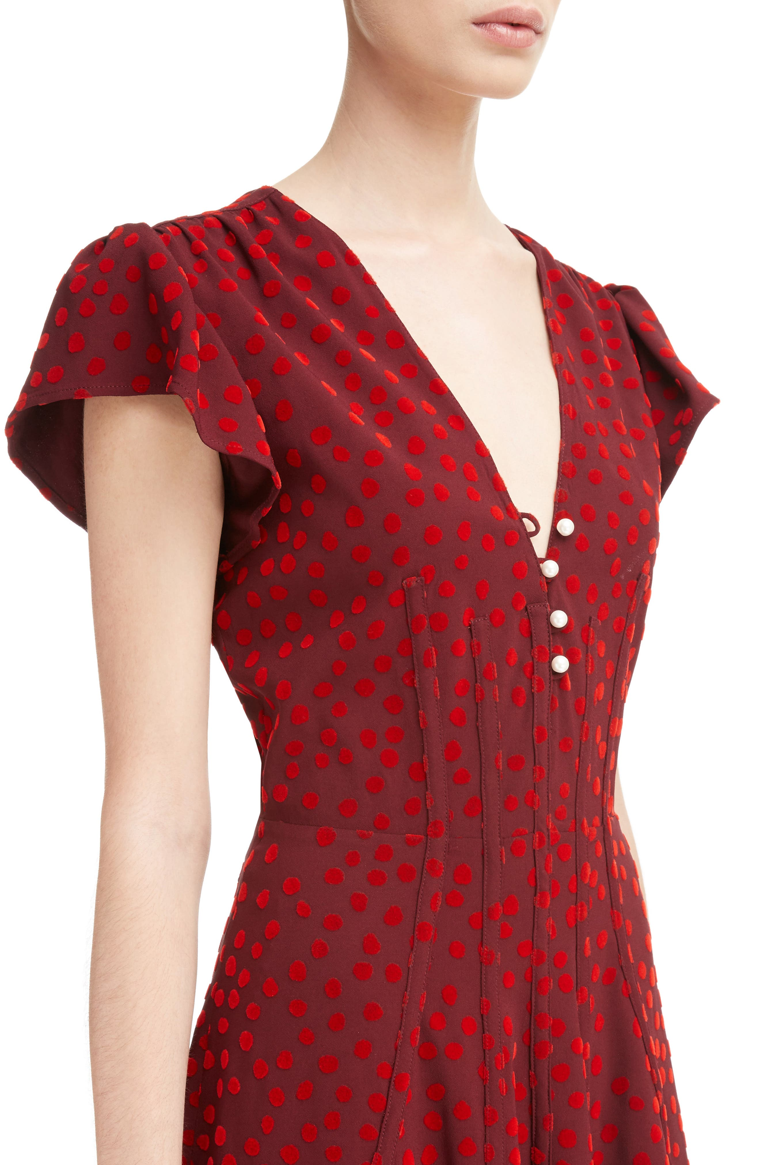 Alternate Image 4  - Altuzarra Camilla Dot Print Dress