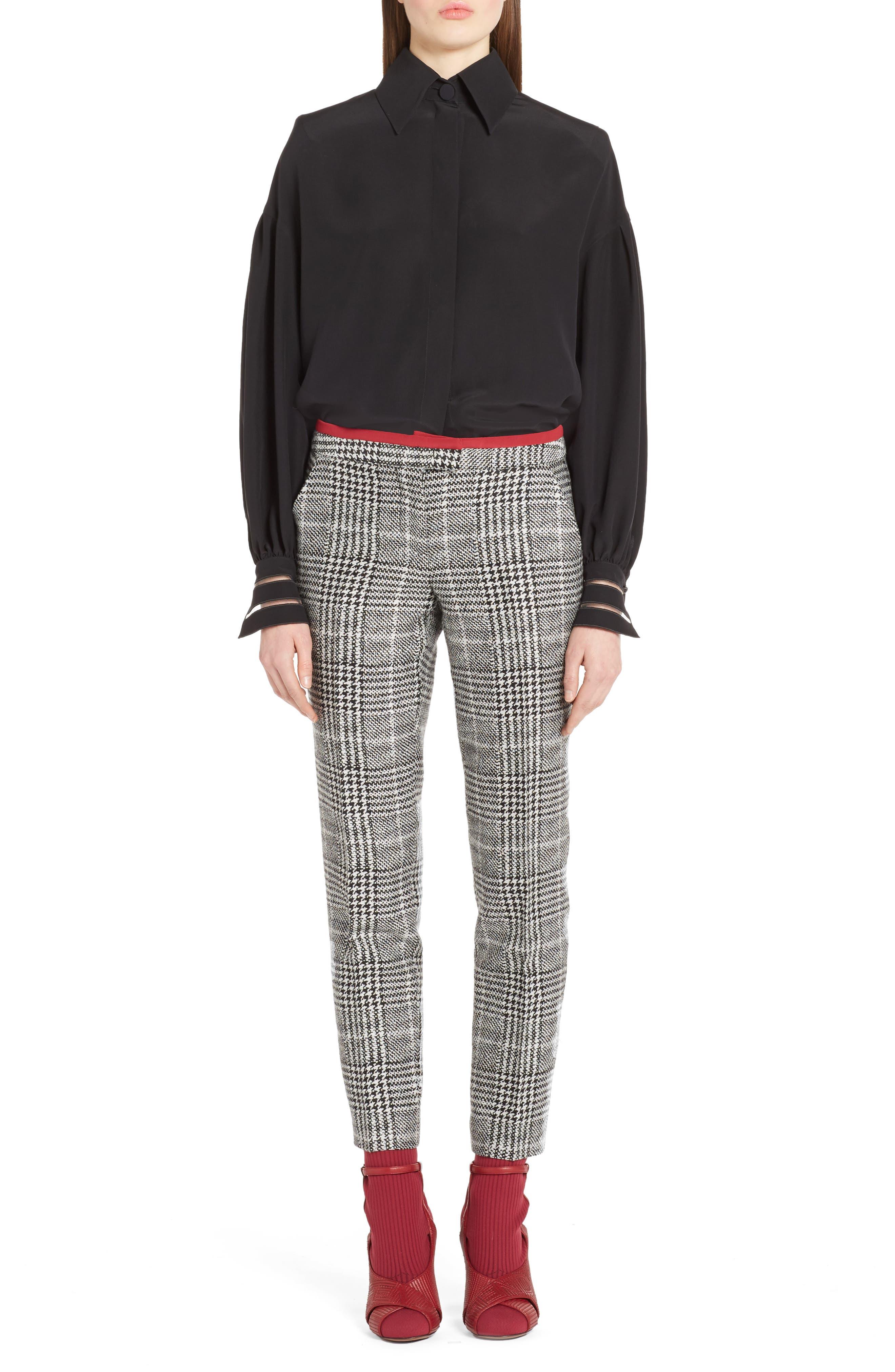 Alternate Image 6  - Fendi Prince of Wales Print Crop Pants
