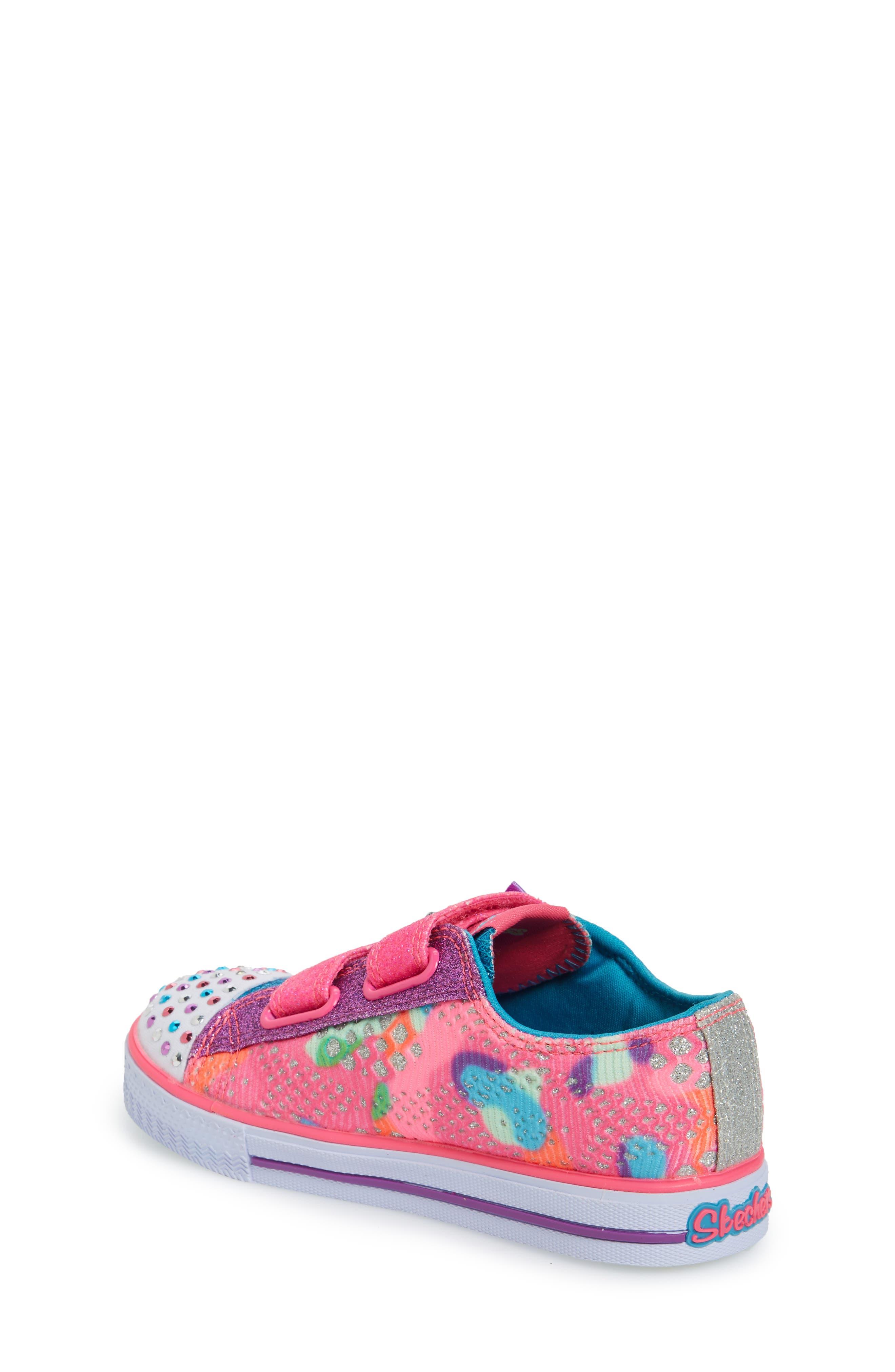 Alternate Image 2  - SKECHERS Twinkle Toes Shuffles Light-Up Sneaker (Walker & Toddler)