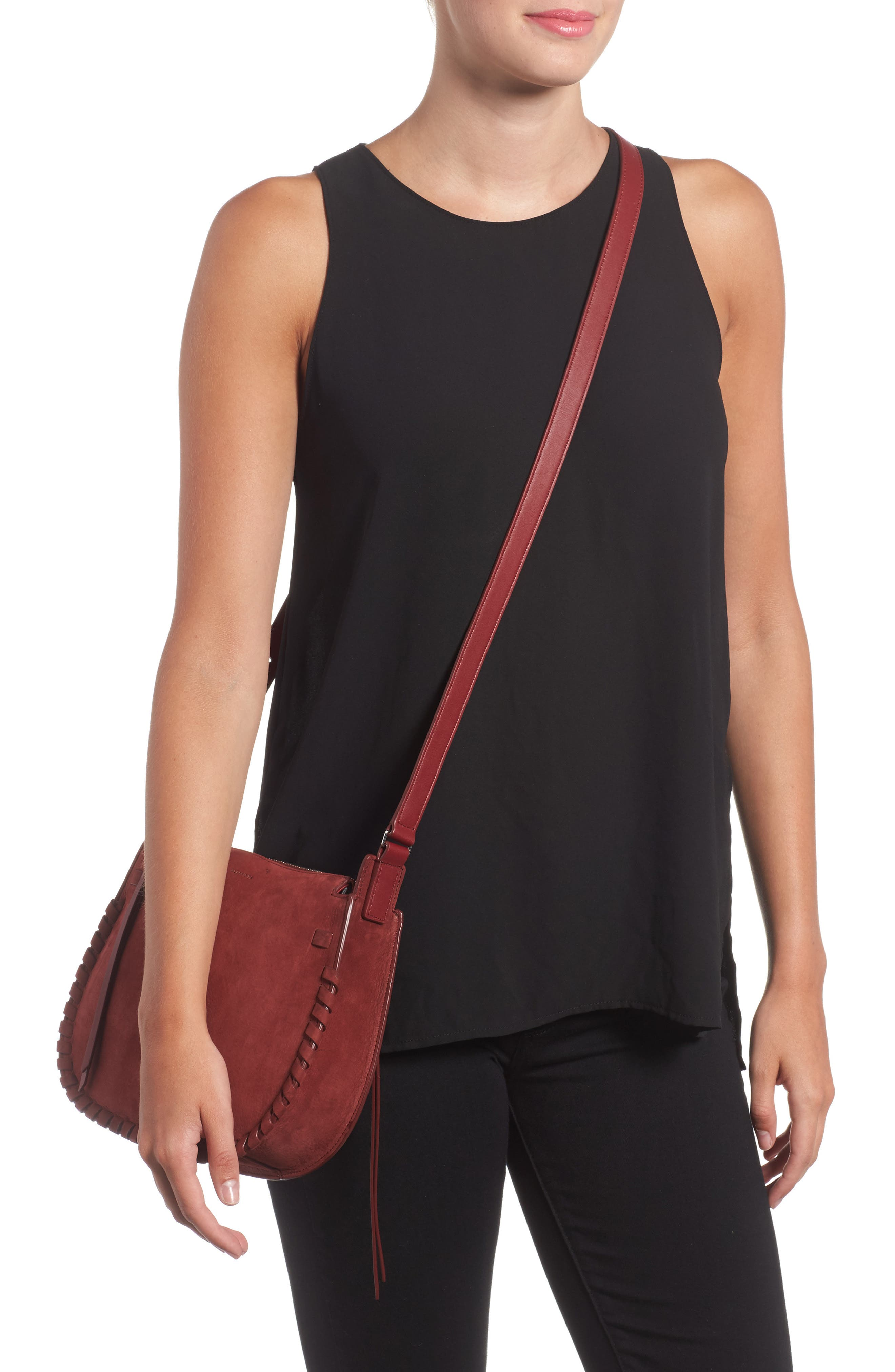 Alternate Image 2  - ALLSAINTS Ray Nubuck Crossbody Bag (Nordstrom Exclusive)