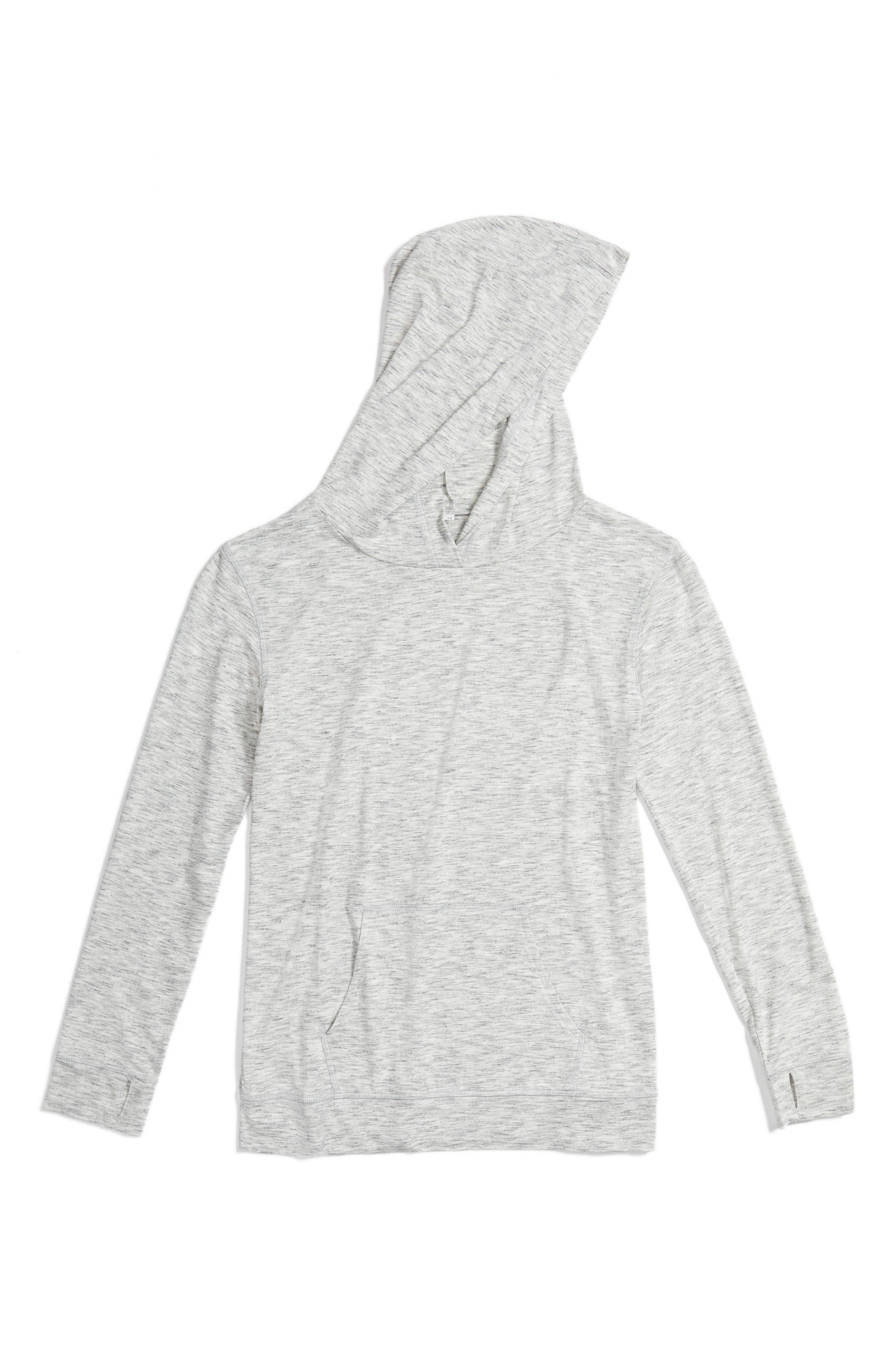 Drapey Pullover Hoodie,                         Main,                         color, Grey Vapor