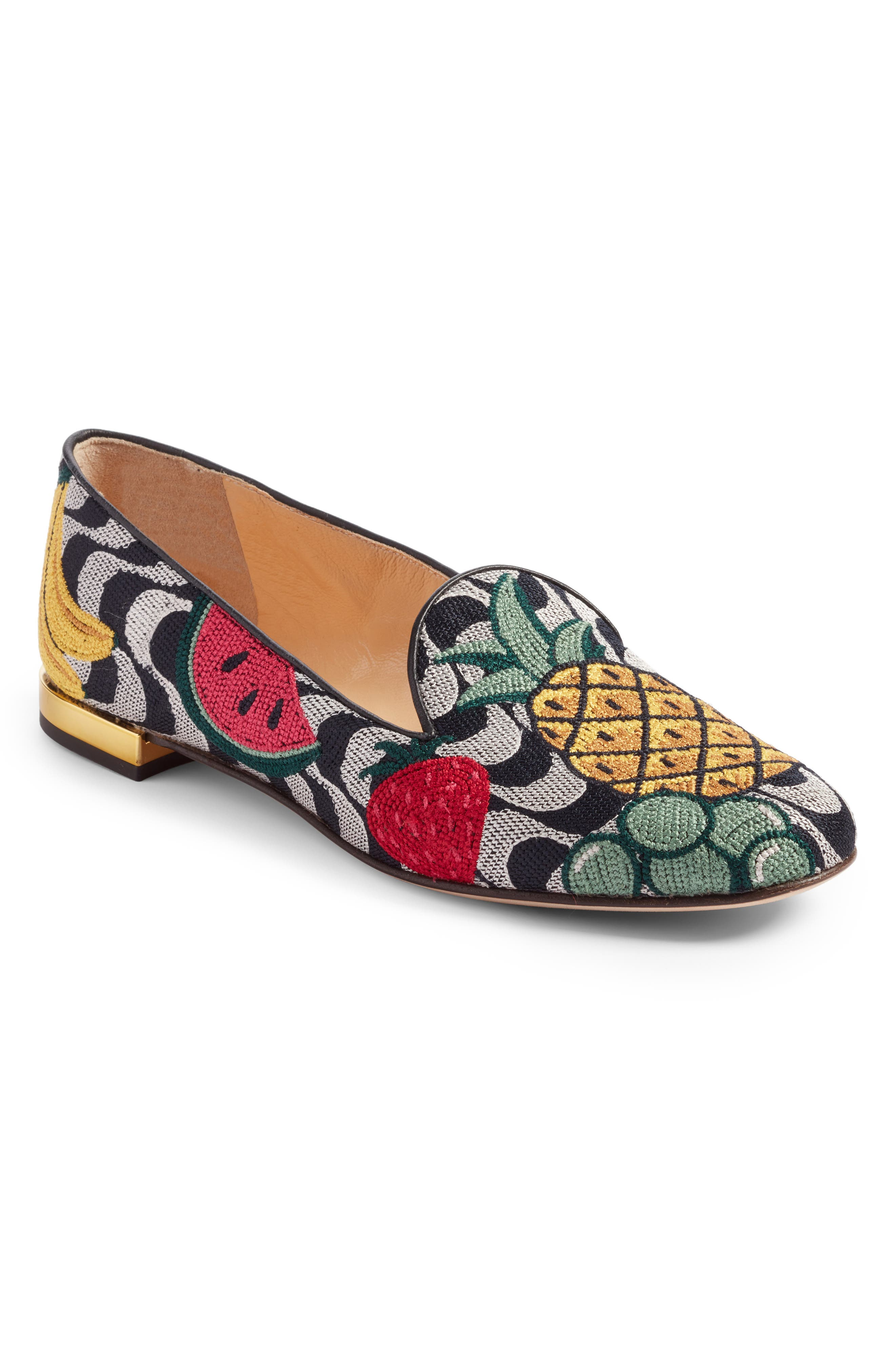 Charlotte Olympia Fruit Salad Slipper Loafer (Women)