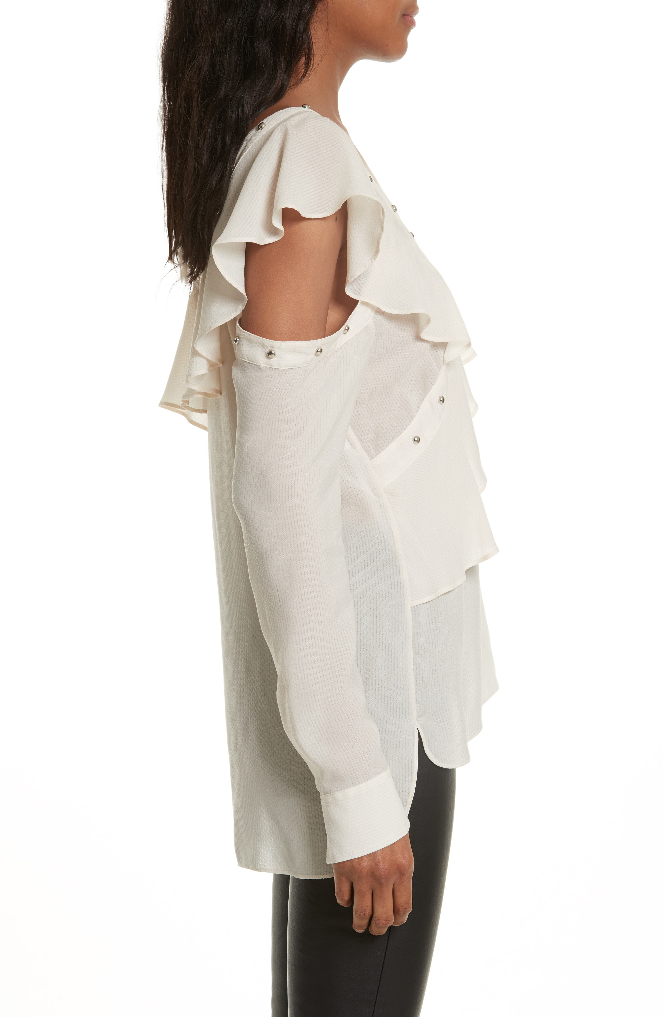 Clementine Off the Shoulder Top,                             Alternate thumbnail 4, color,                             White