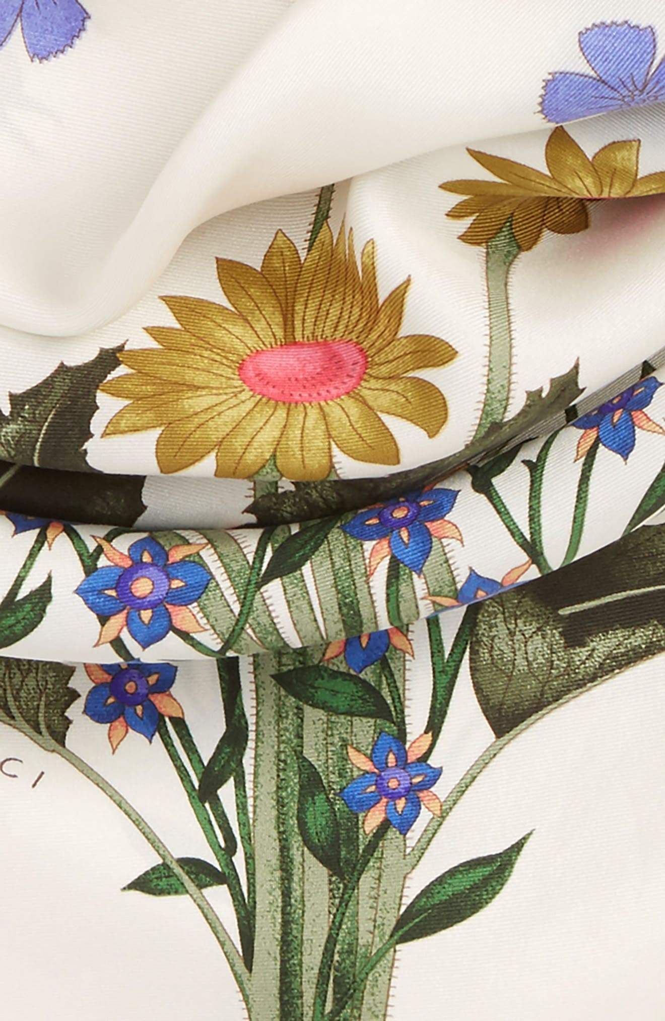 Alternate Image 3  - Gucci New Flora Silk Scarf