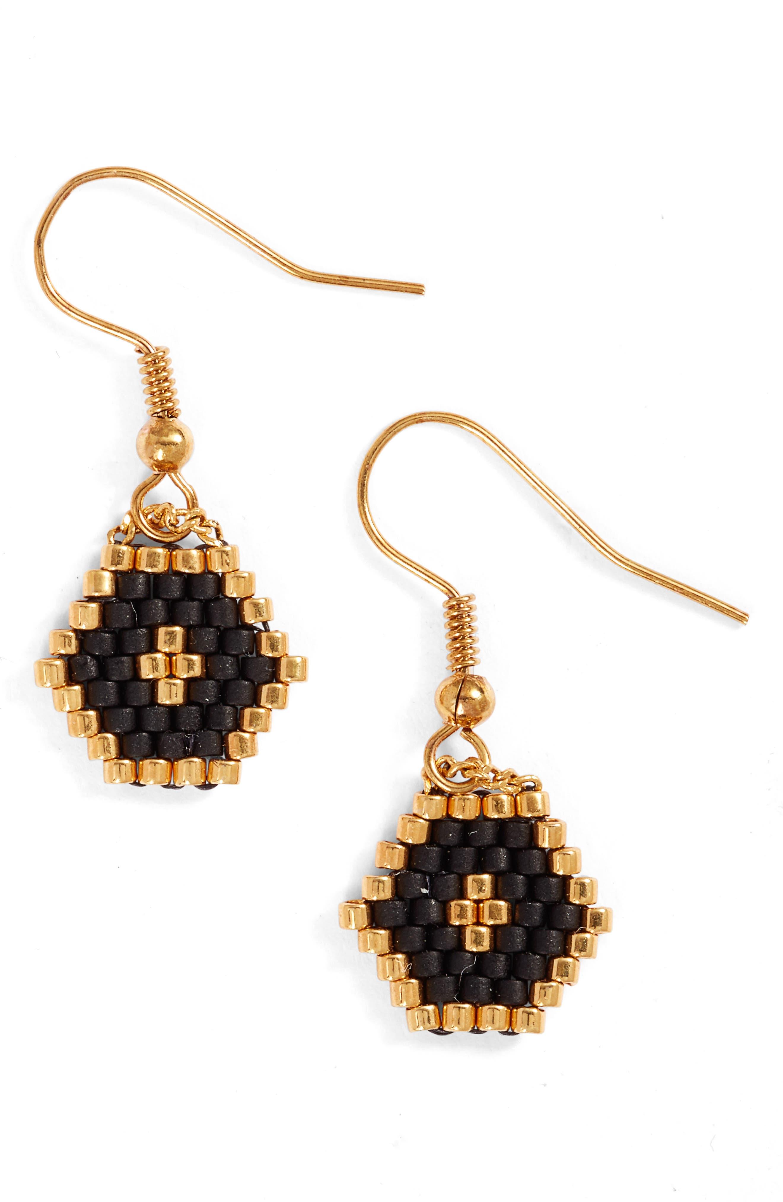 ELISE M. Hexy Seed Bead Earrings