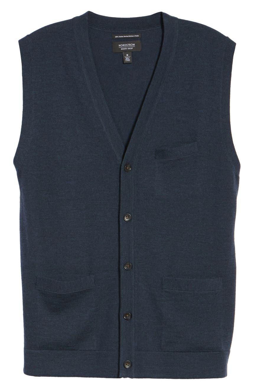 Nordstrom Men's Shop Merino Button Front Sweater Vest | Nordstrom