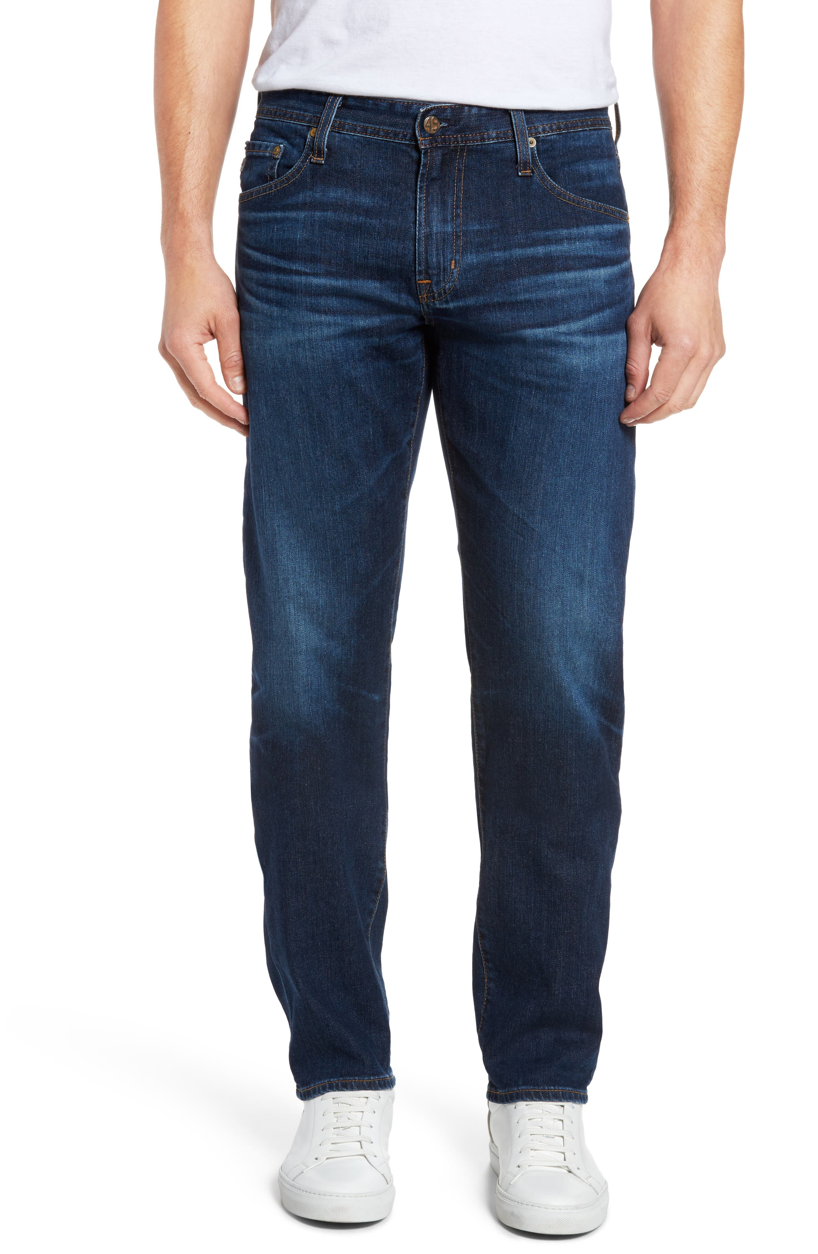 Alternate Image 1 Selected - AG Graduate Slim Straight Fit Jeans (6 Years Projector)