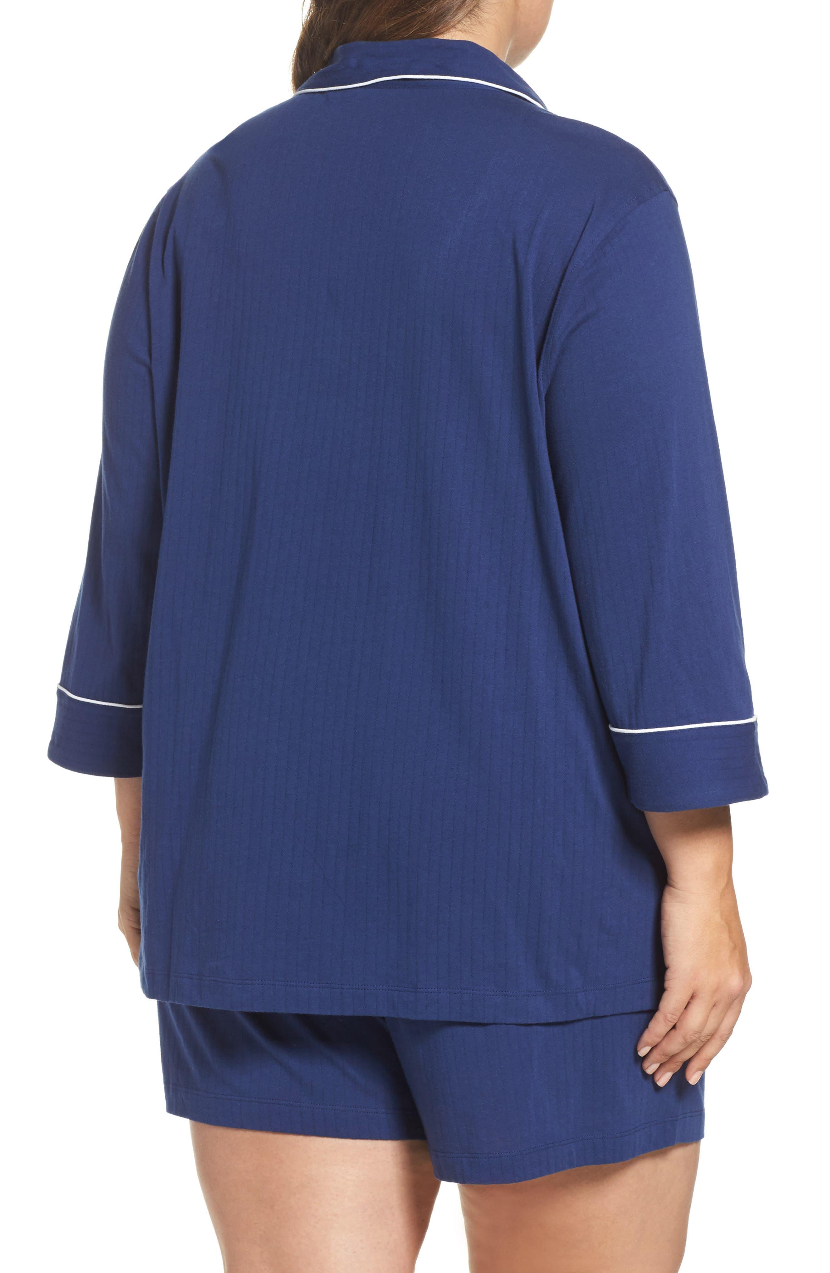 Notched Collar Pajamas,                             Alternate thumbnail 2, color,                             Navy