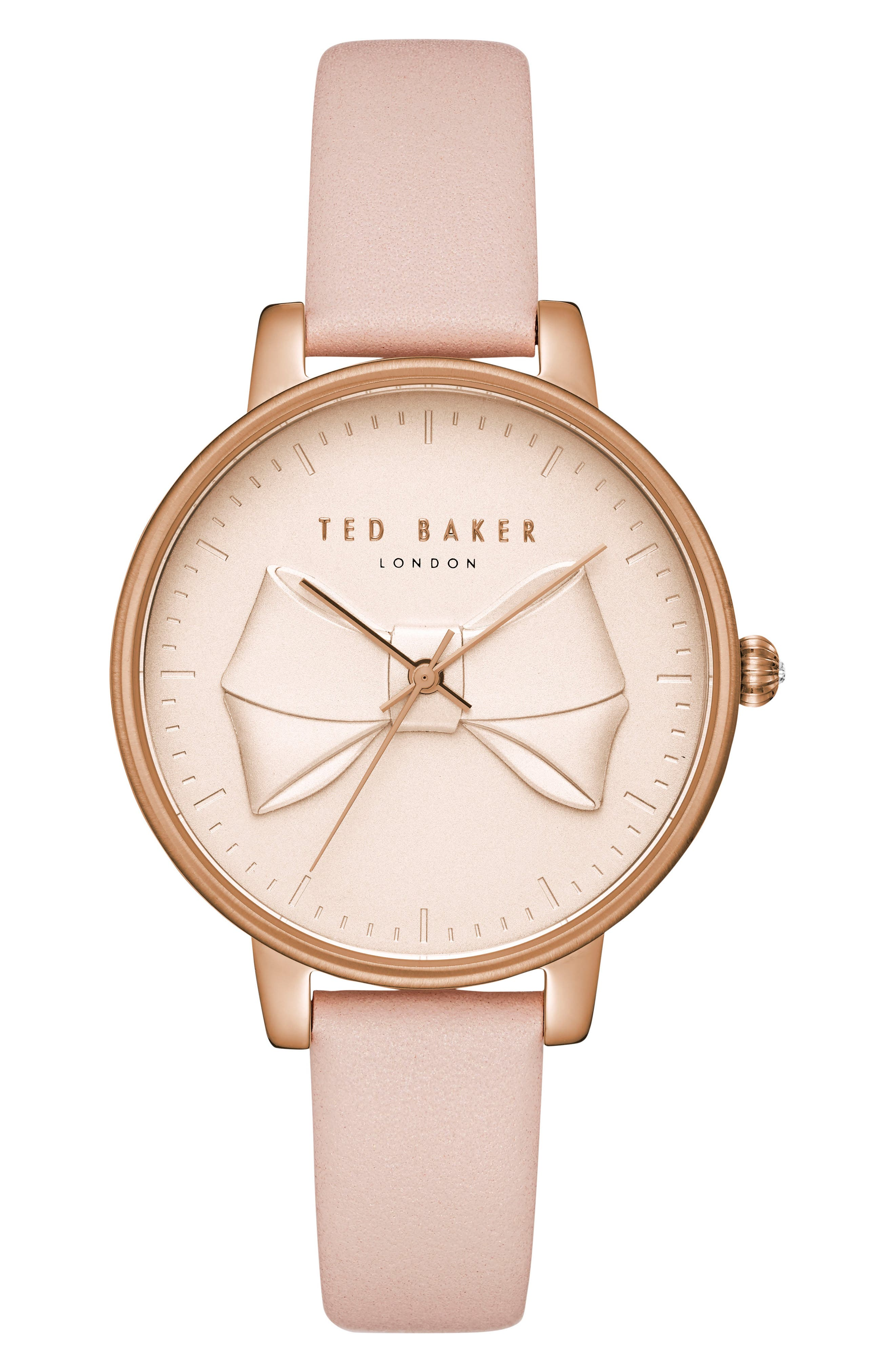 Ted Baker London Brook Leather Strap Watch, 36mm