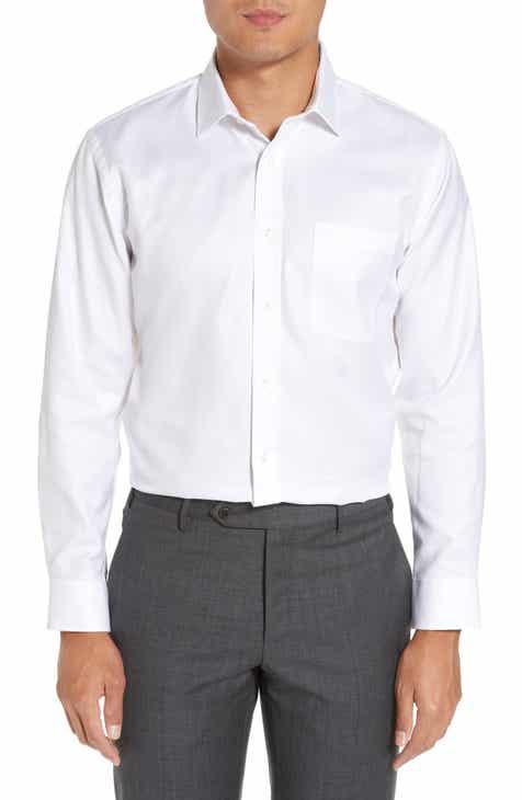 Nordstrom Men's Shop Trim Fit Microgrid Dress Shirt