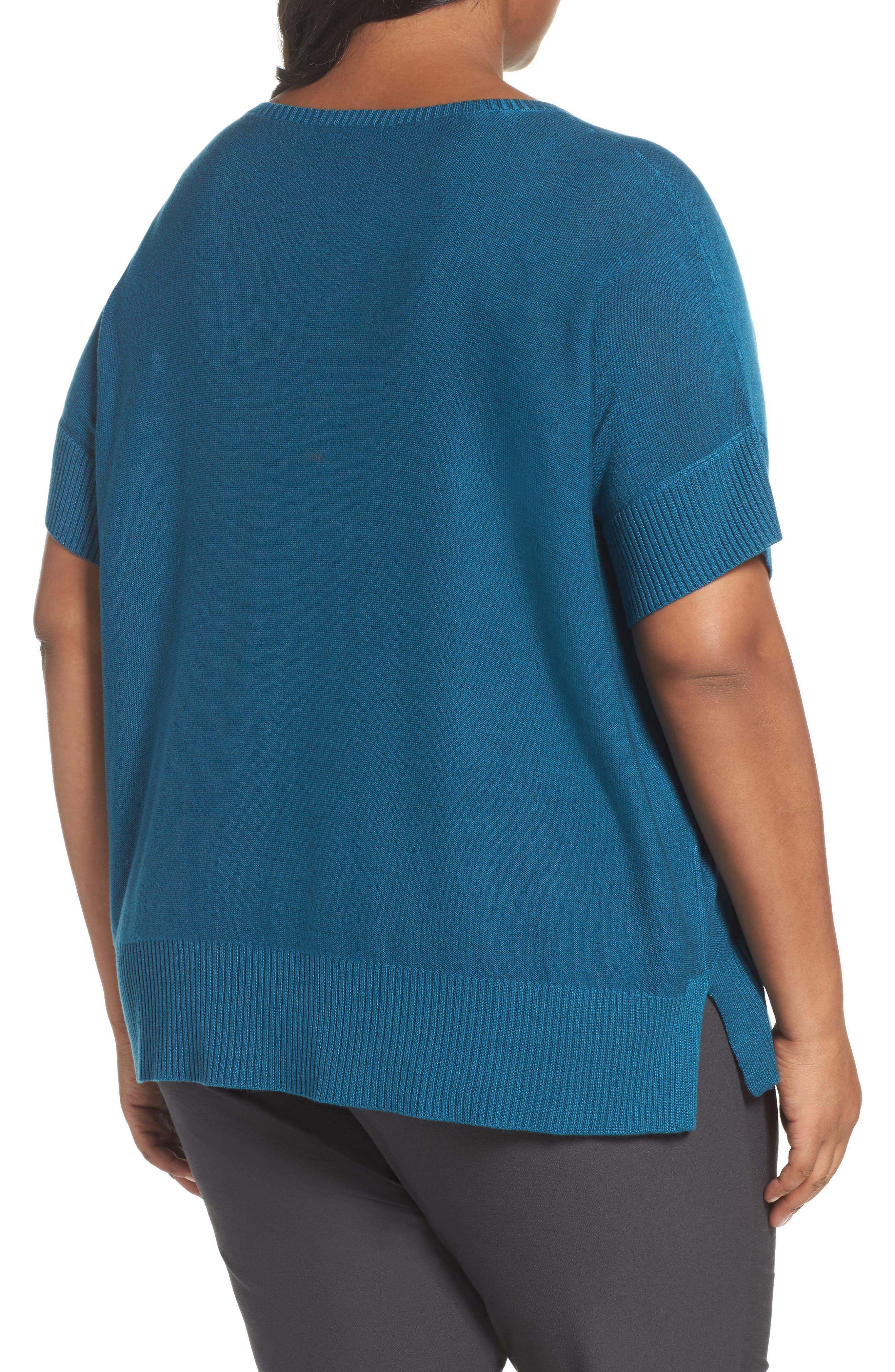 Tencel<sup>®</sup> & Merino Wool Top,                             Alternate thumbnail 2, color,                             Nile