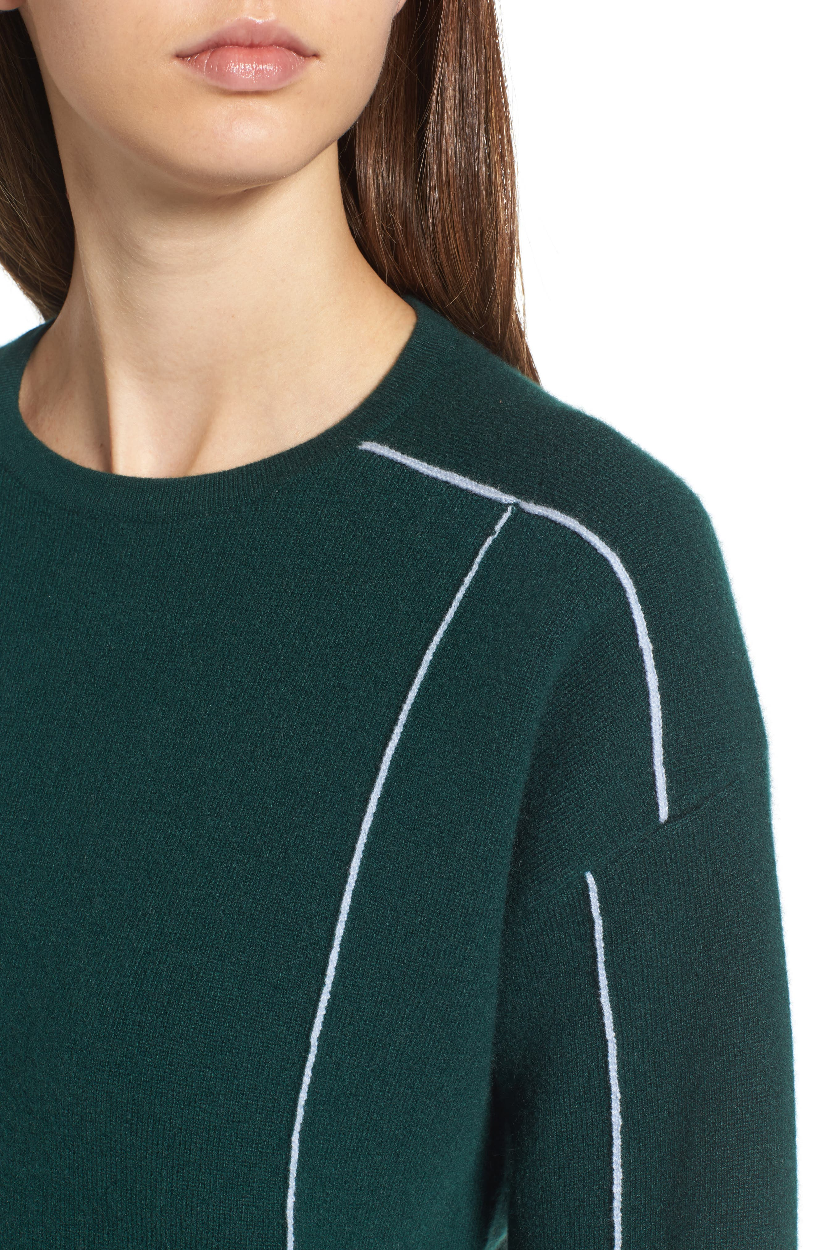 Alternate Image 4  - Lewit Double Knit Cashmere Blend Pullover