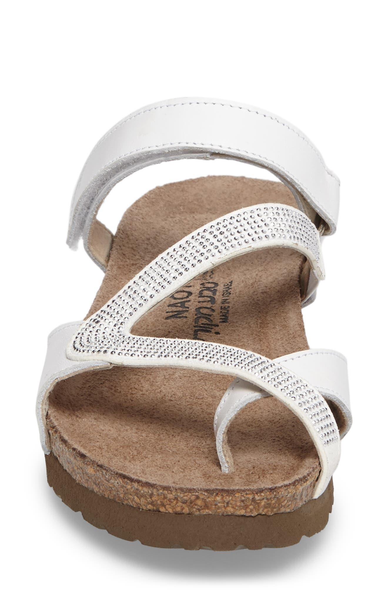 Giovanna Sandal,                             Alternate thumbnail 4, color,                             White Leather