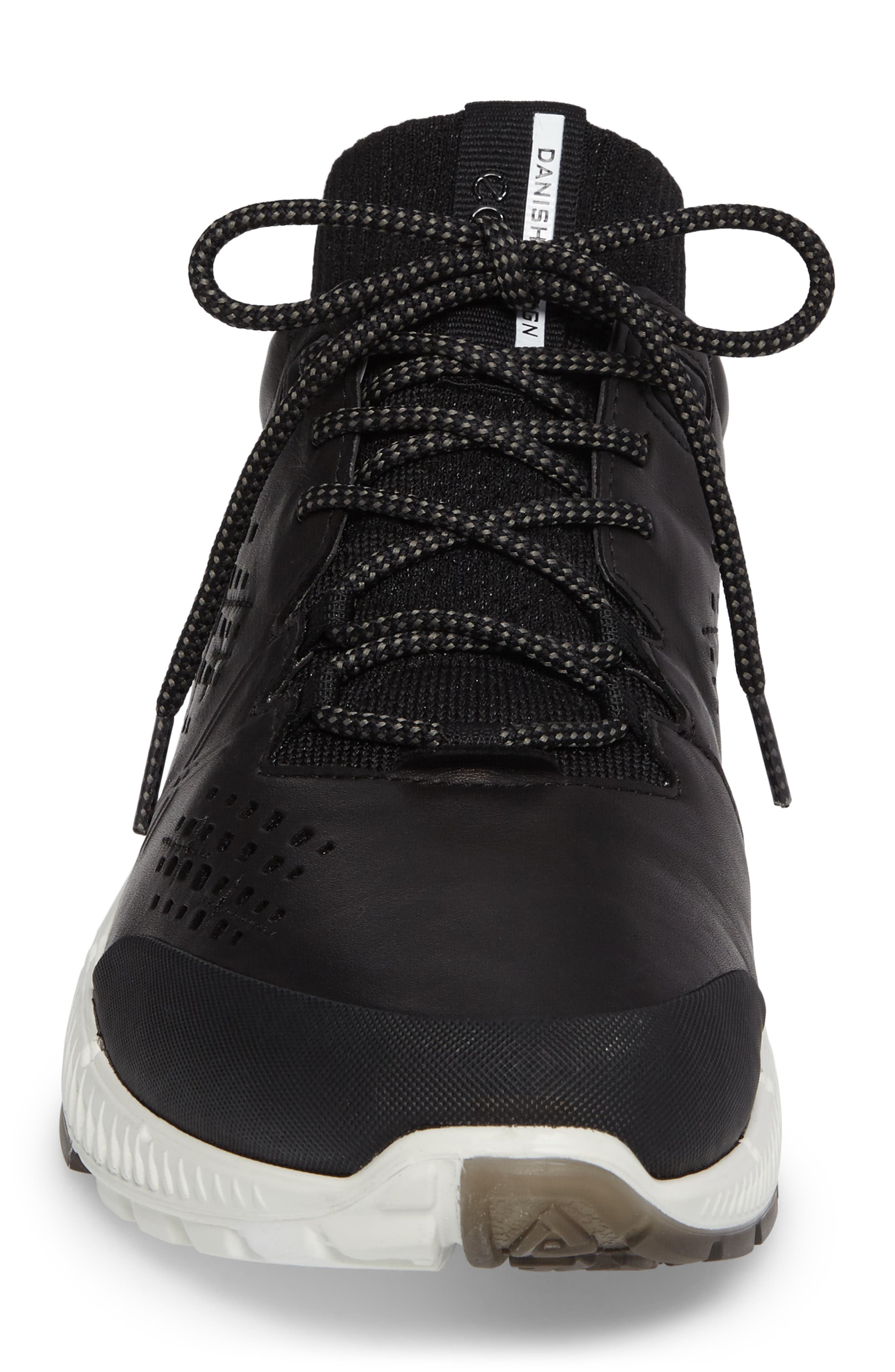 Intrinsic Mid Sneaker,                             Alternate thumbnail 4, color,                             Black Leather