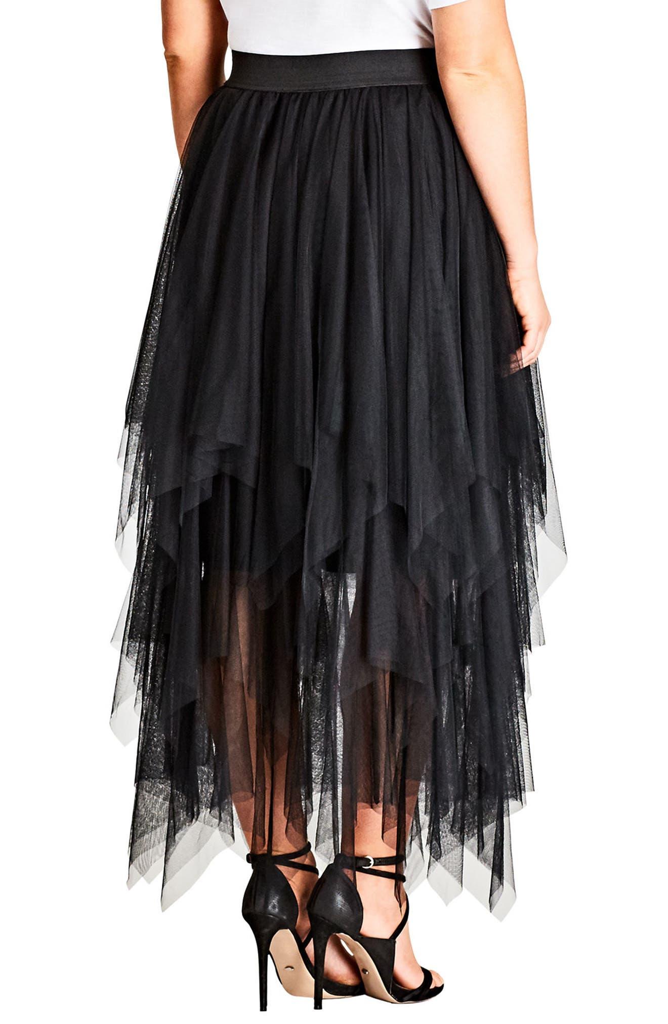 Alternate Image 2  - City Chic Pixy Skirt (Plus Size)