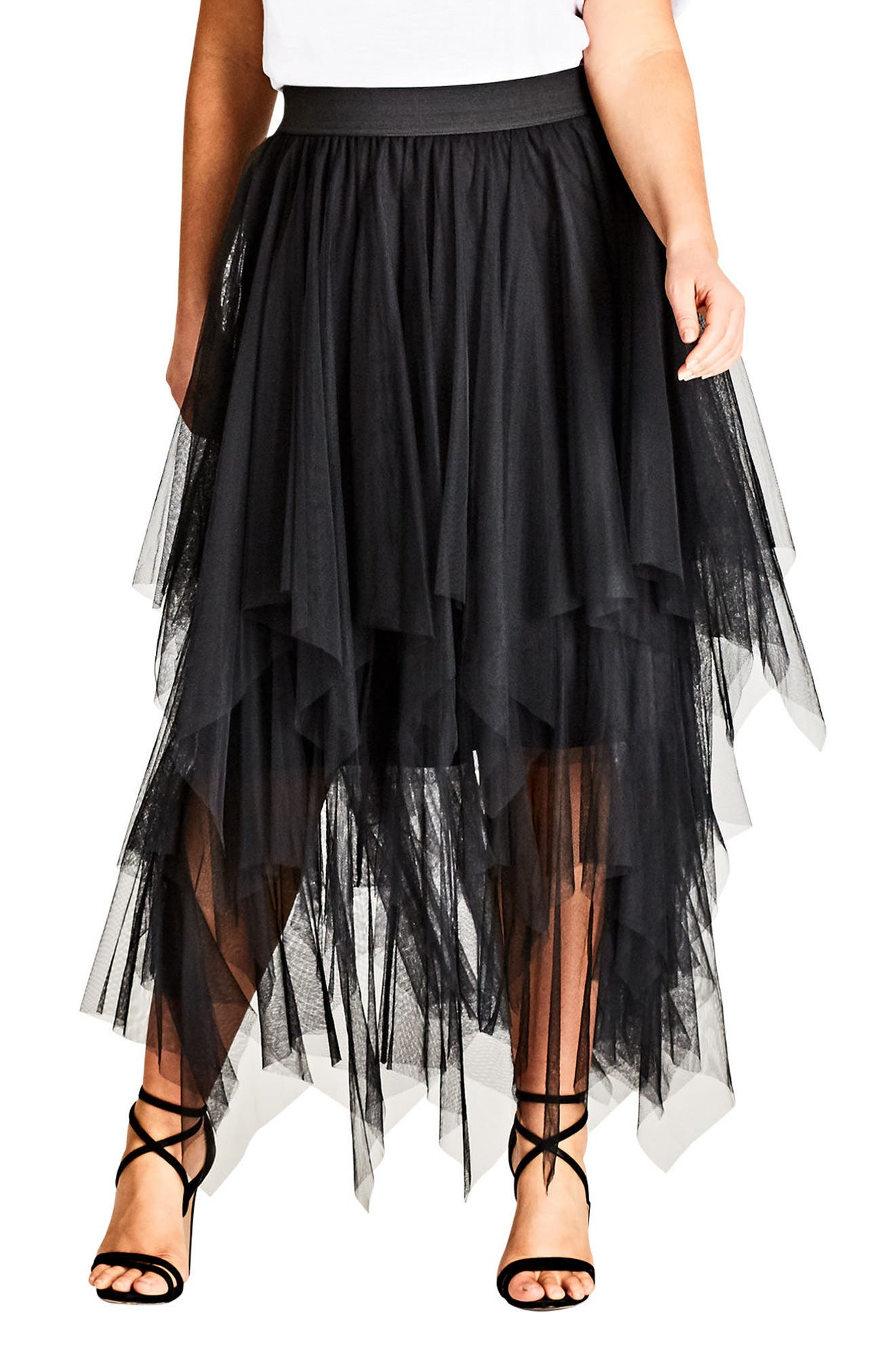 Alternate Image 1 Selected - City Chic Pixy Skirt (Plus Size)