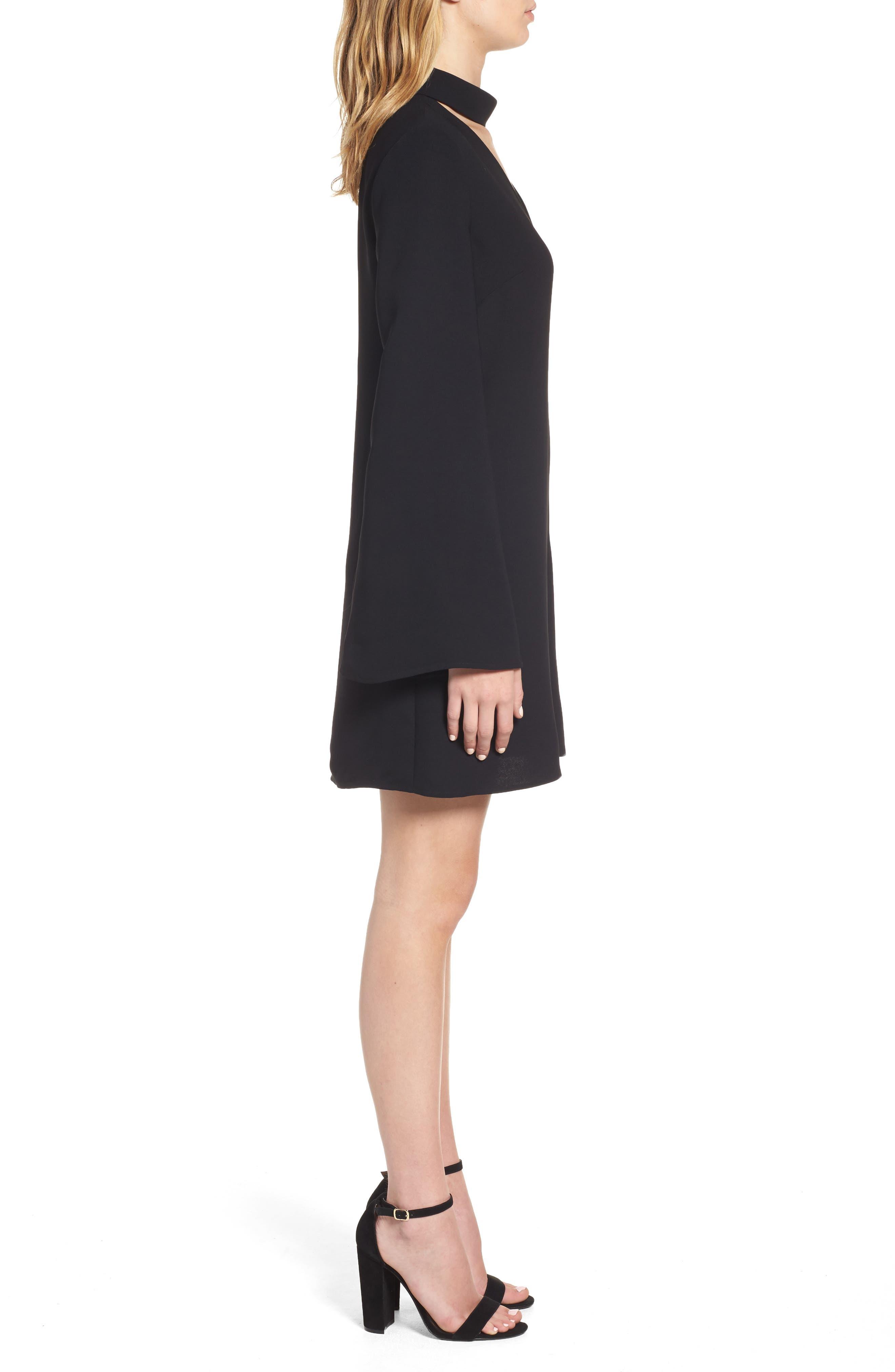 Alternate Image 3  - Trouvé Choker Bell Sleeve Dress