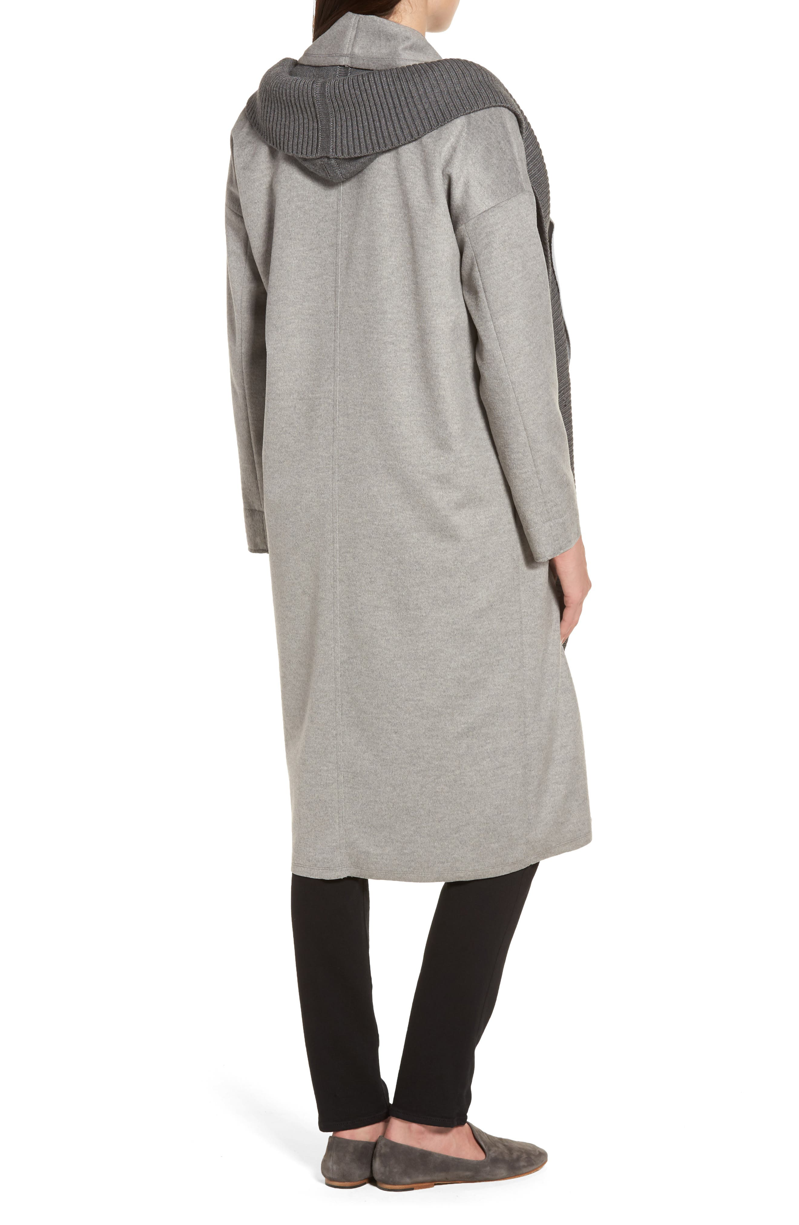 Brandy Stone Grey Duster Coat,                             Alternate thumbnail 2, color,                             Stone Grey