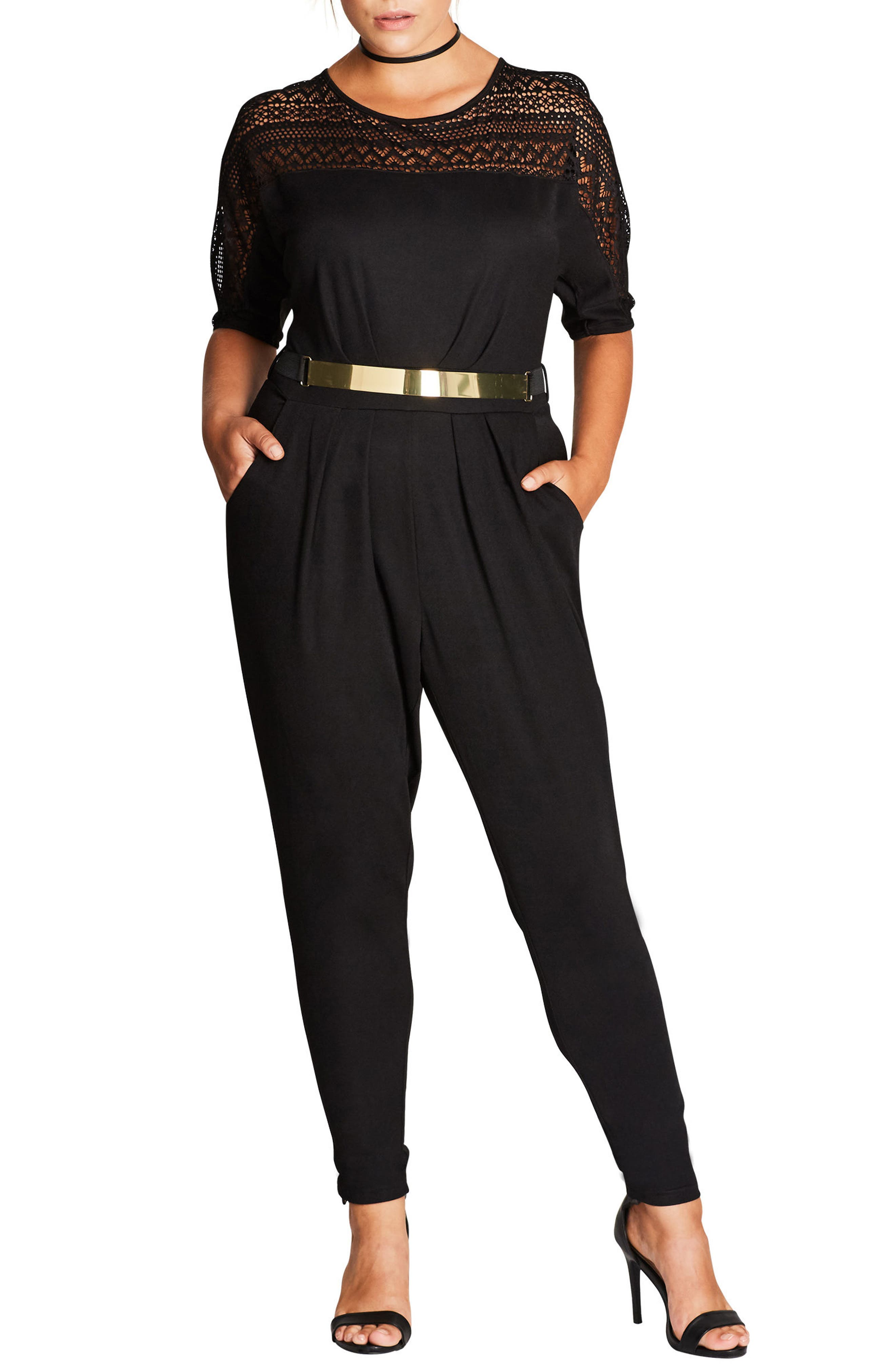 CITY CHIC Sports One Belted Jumpsuit