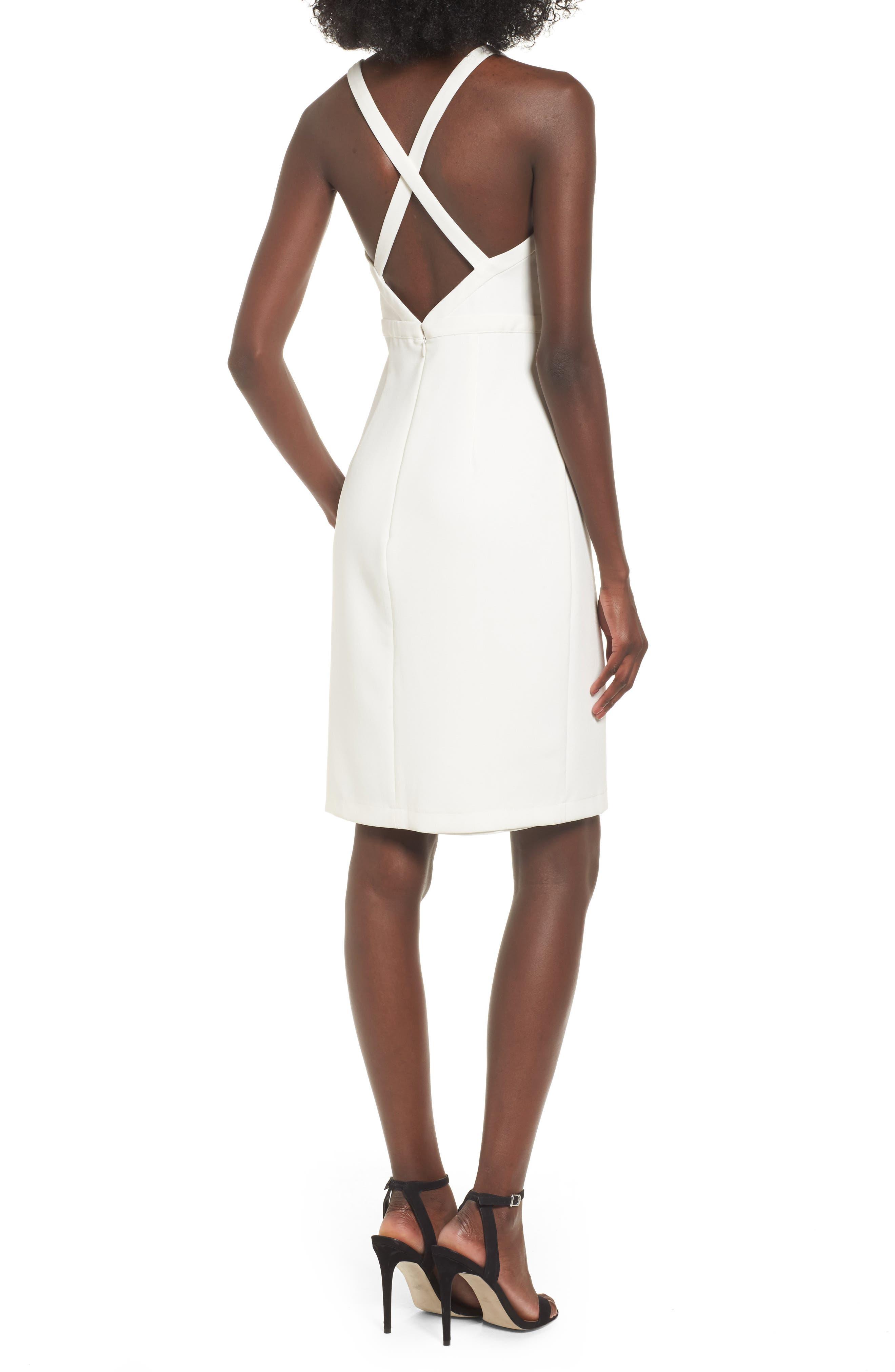 Offense Sheath Dress,                             Alternate thumbnail 2, color,                             Ivory