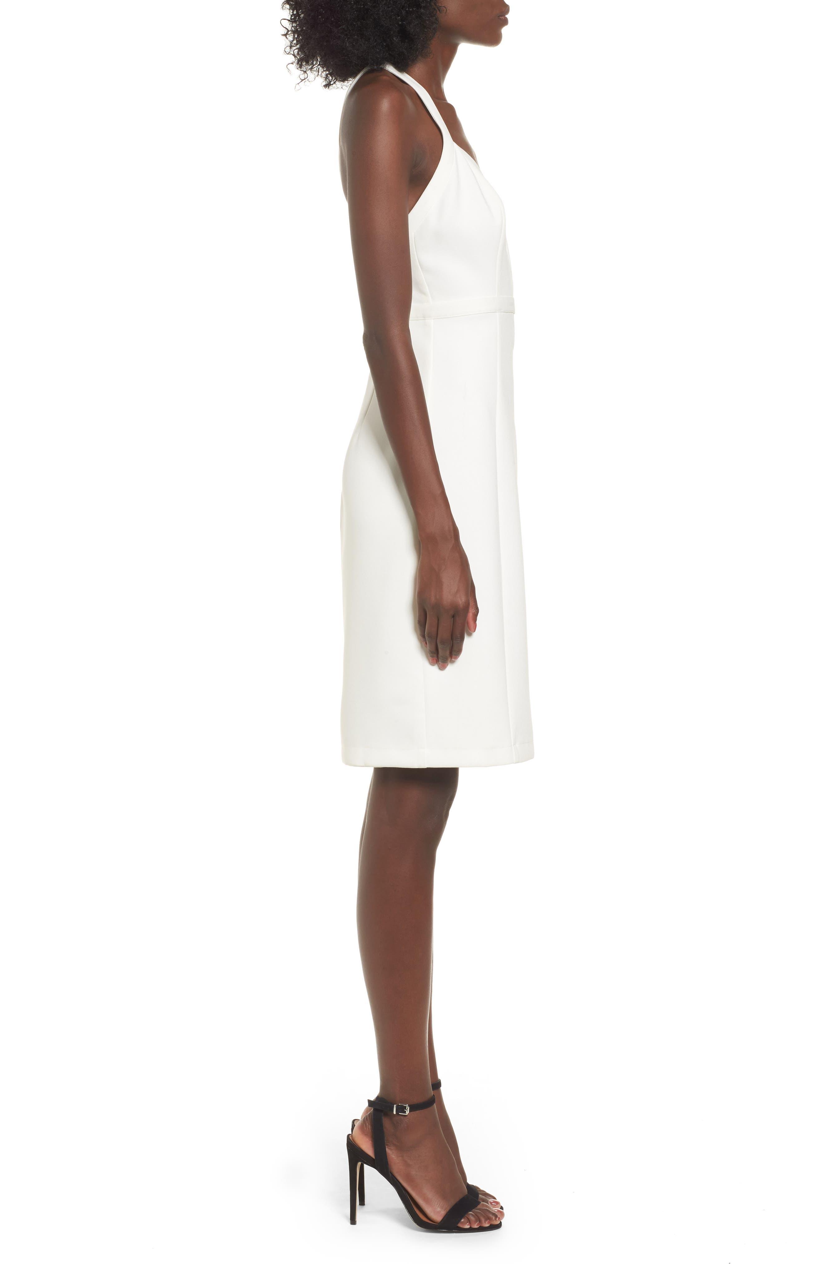 Offense Sheath Dress,                             Alternate thumbnail 3, color,                             Ivory