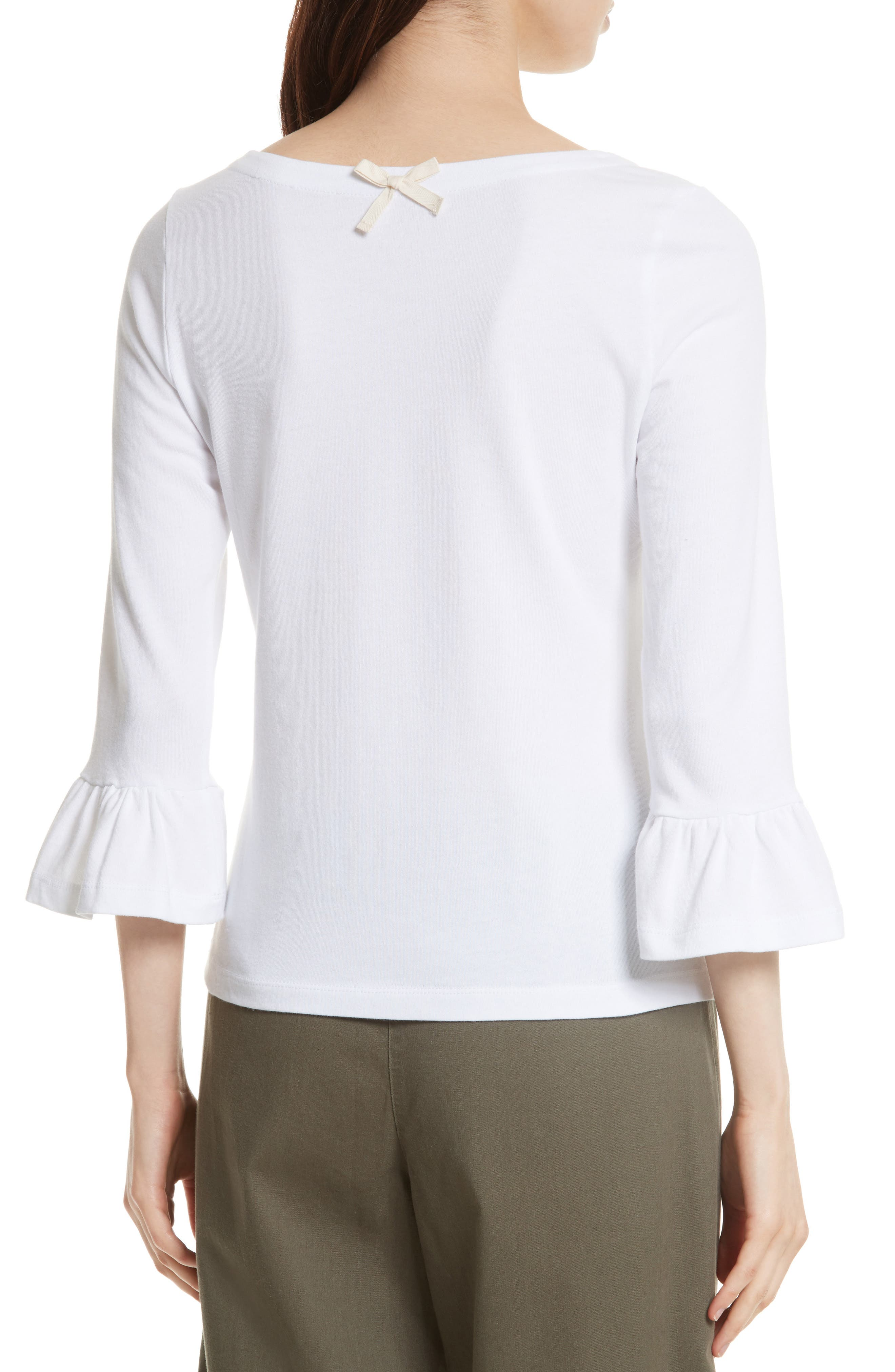 Alternate Image 2  - kate spade new york flounce sleeve knit top
