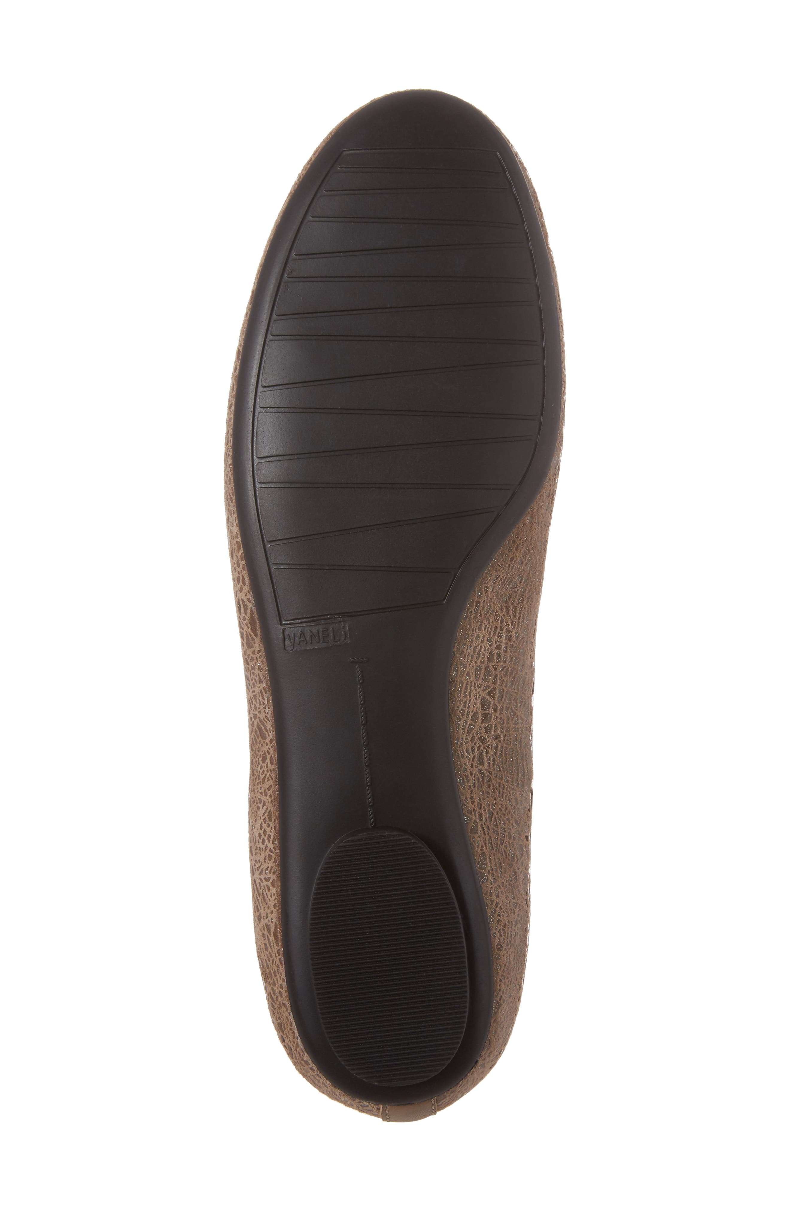 'Signy' Ballet Flat,                             Alternate thumbnail 6, color,                             Taupe Print Leather