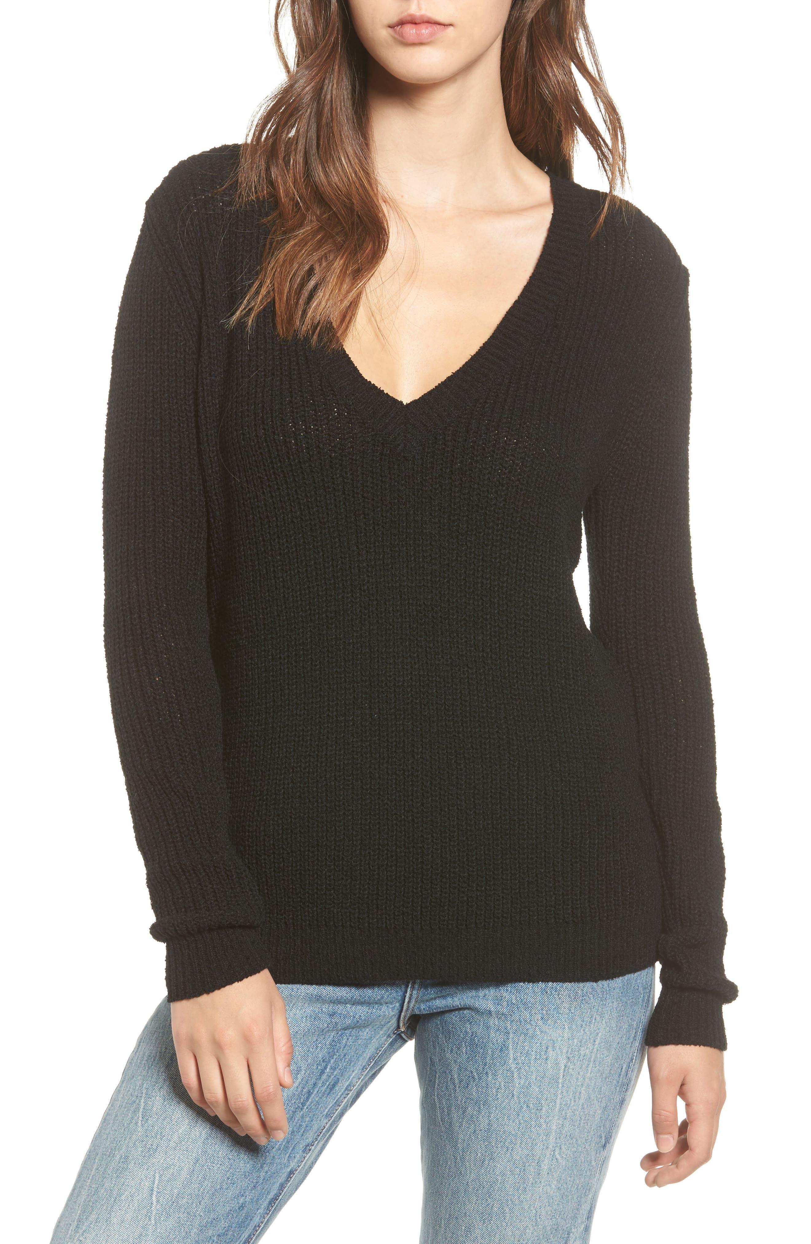Dawn Sweater,                             Main thumbnail 1, color,                             Black