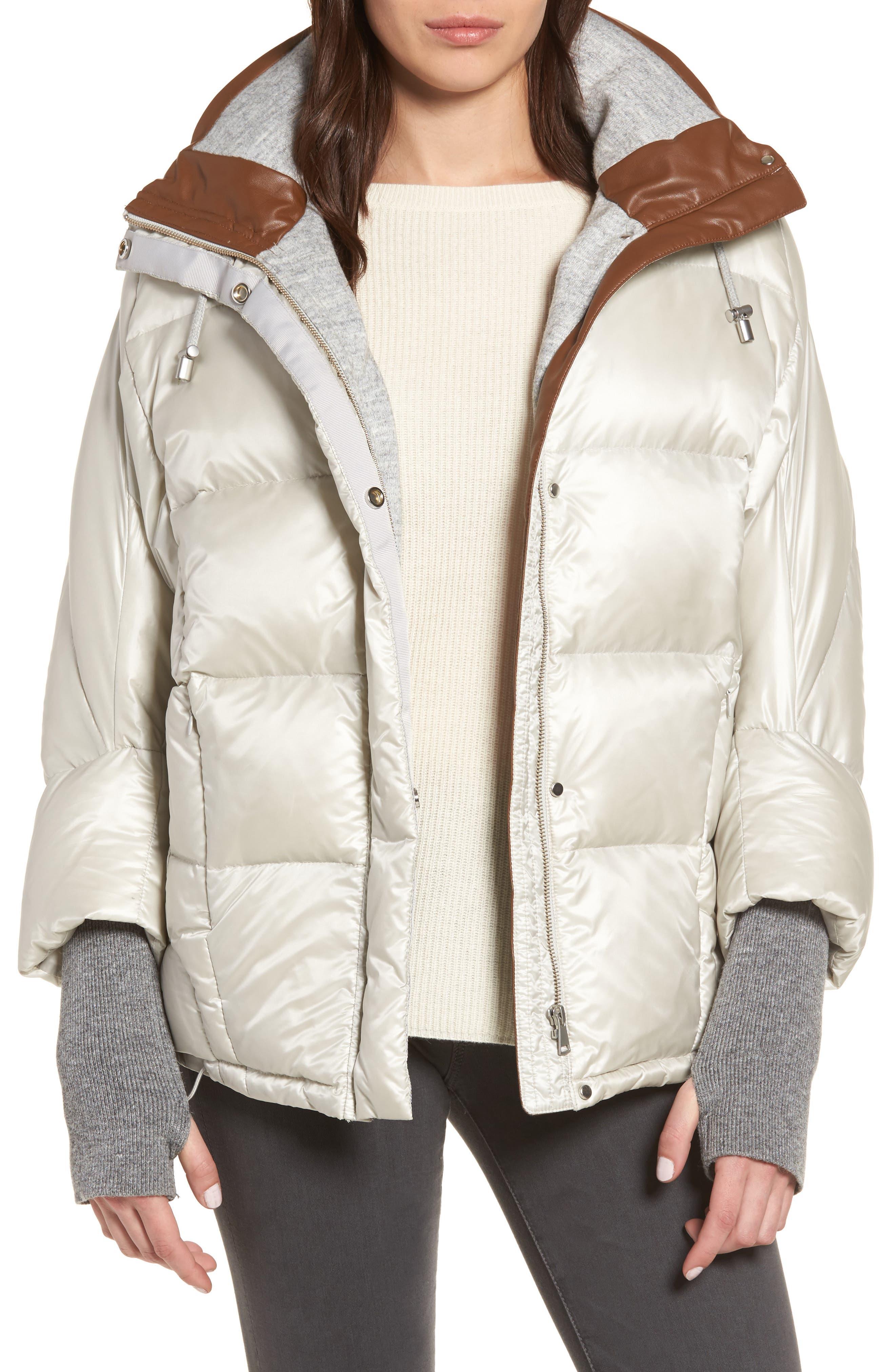 Beda Down Jacket,                         Main,                         color, Silver Grey