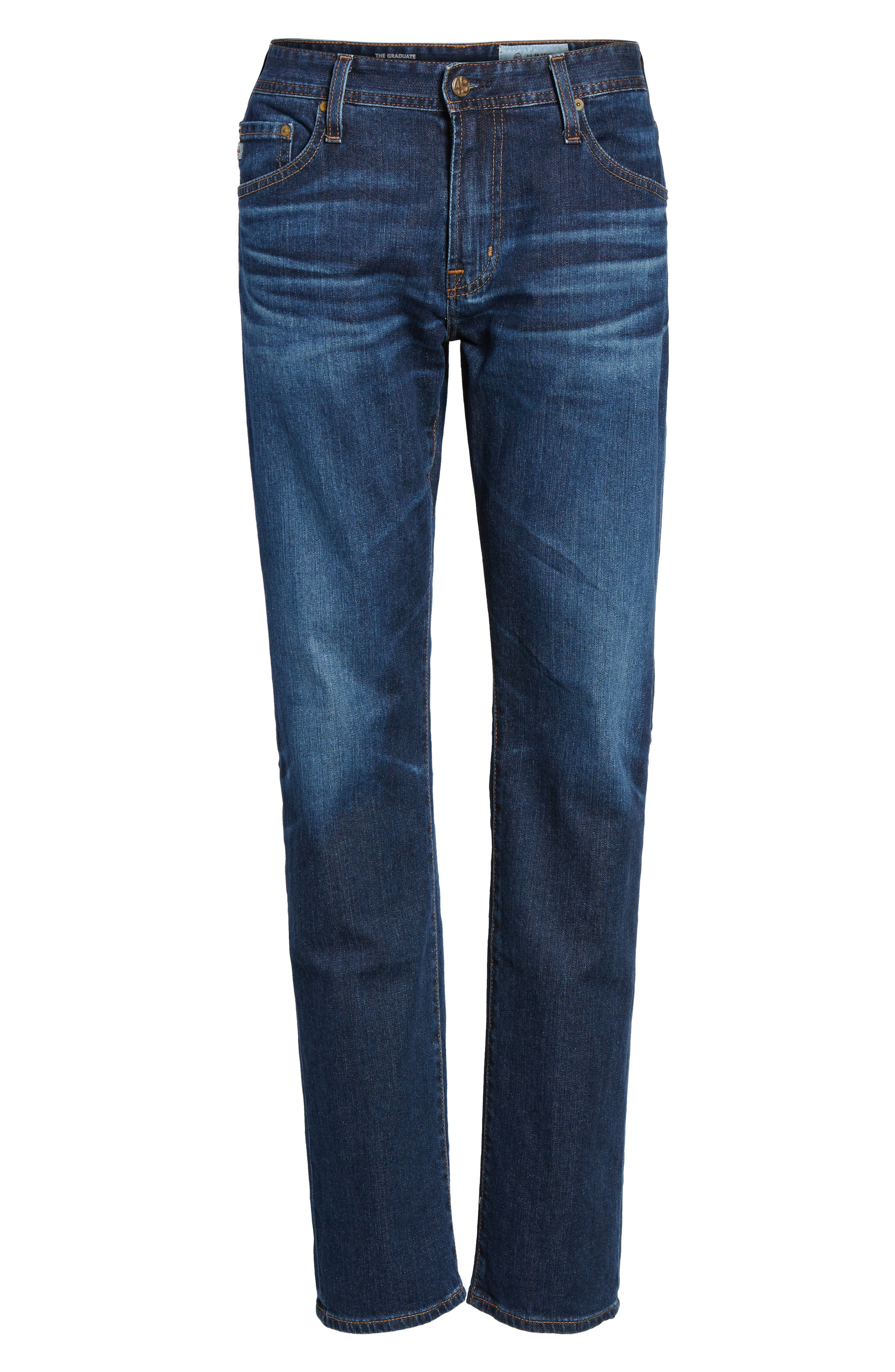 Alternate Image 6  - AG Graduate Slim Straight Fit Jeans (6 Years Projector)