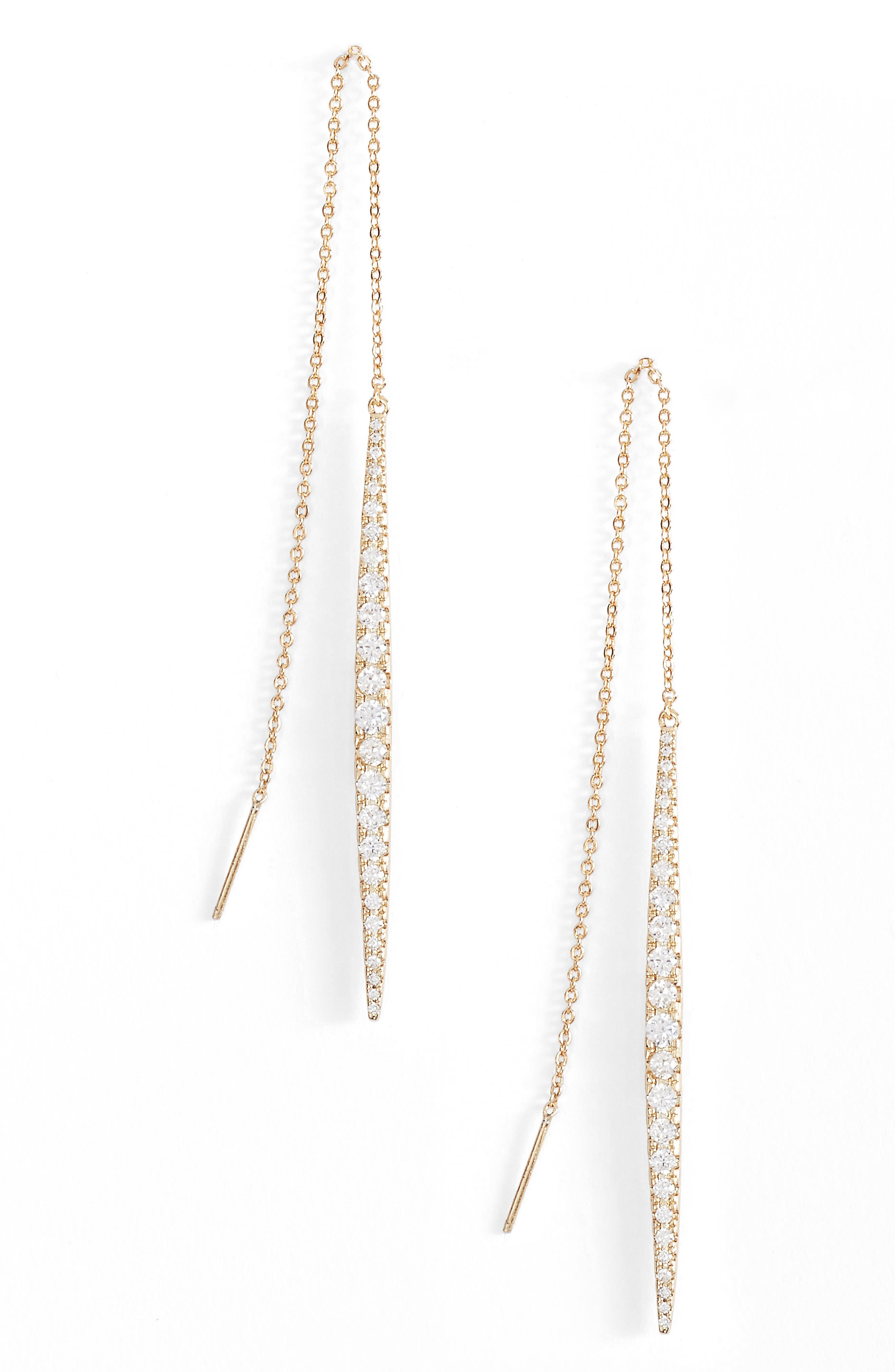 MELINDA MARIA Kate Threader Earrings