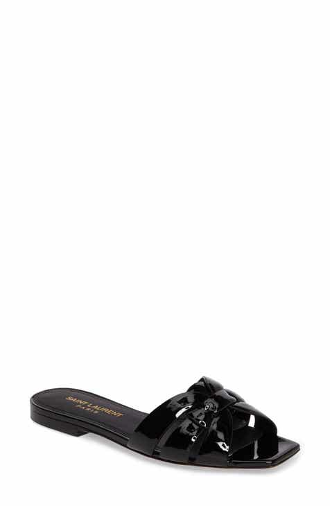 Saint Laurent Tribute Slide Sandal (Women) 64a7b7e25c