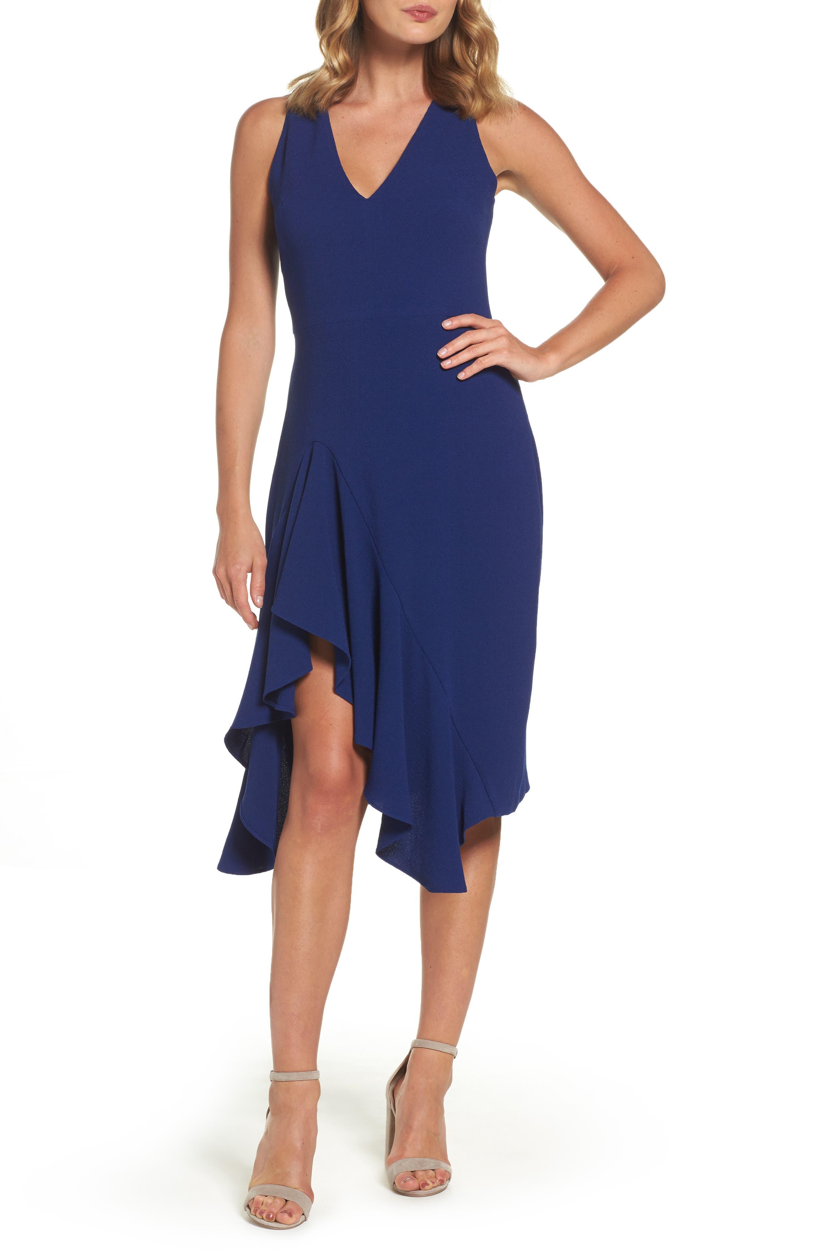 Betsey Johnson Stretch Crepe A-Line Dress