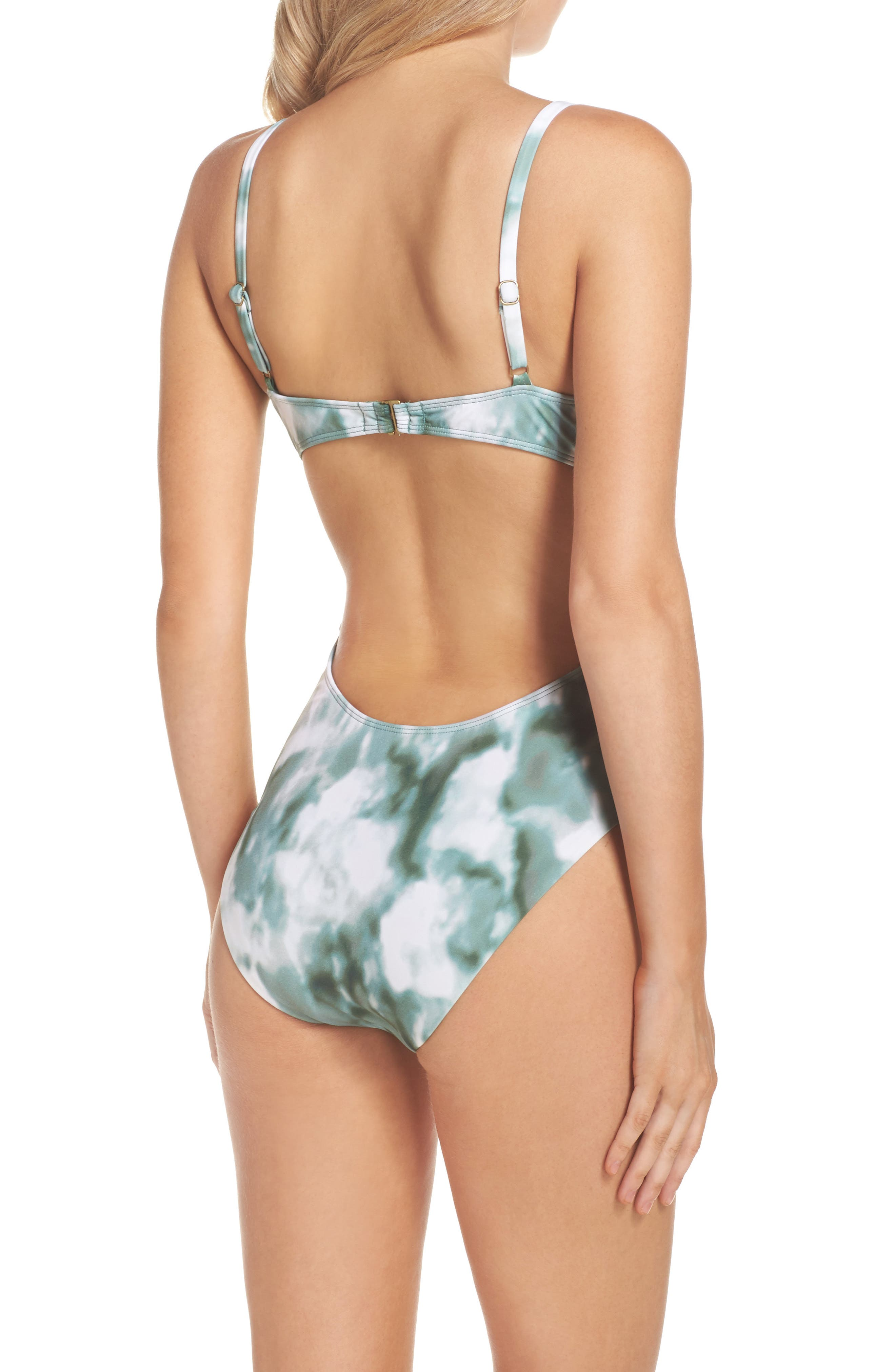 Indian Summer One-Piece Swimsuit,                             Alternate thumbnail 2, color,                             Olive