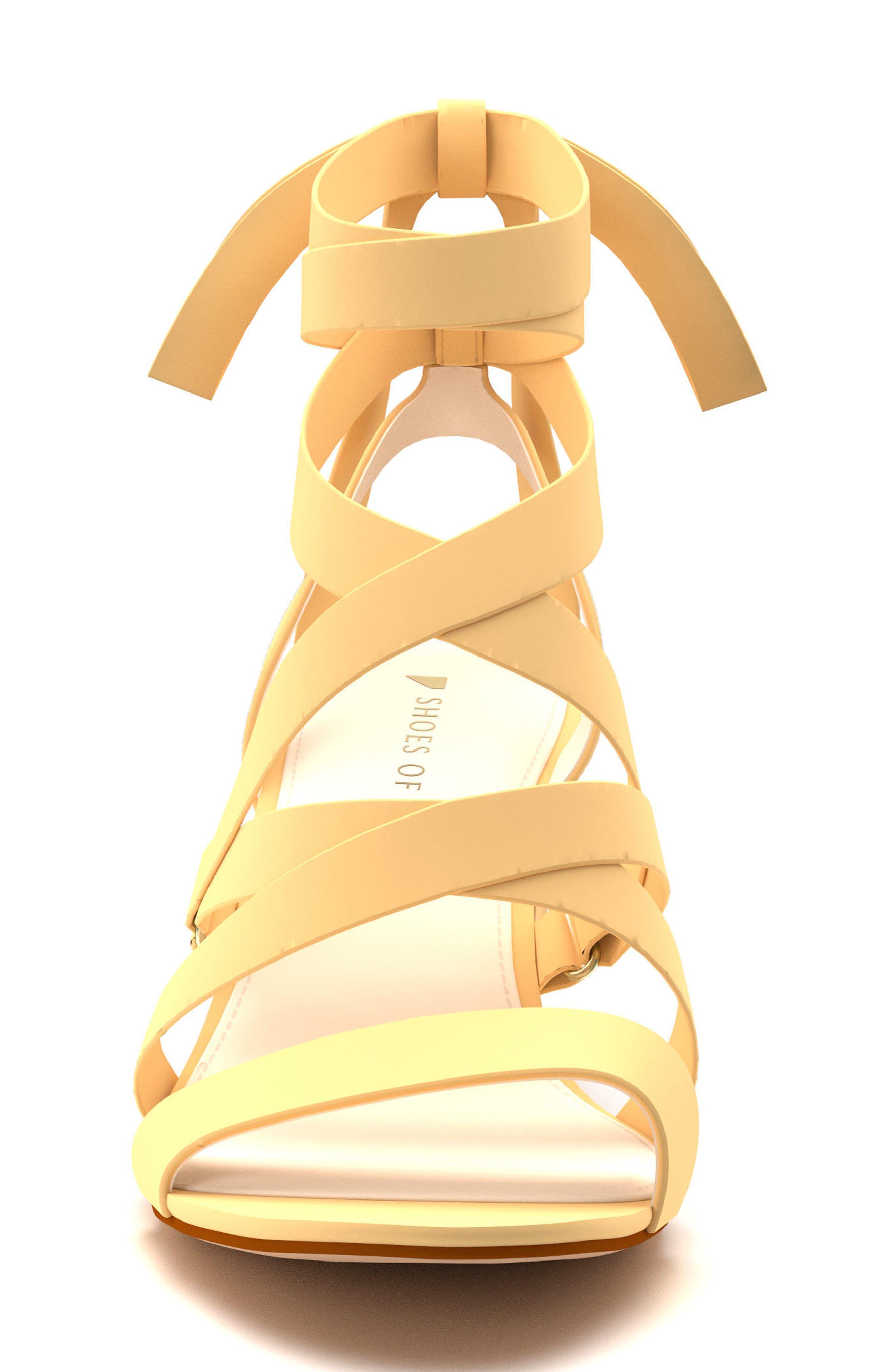 Cross Strap Sandal,                             Alternate thumbnail 2, color,                             Butter Suede