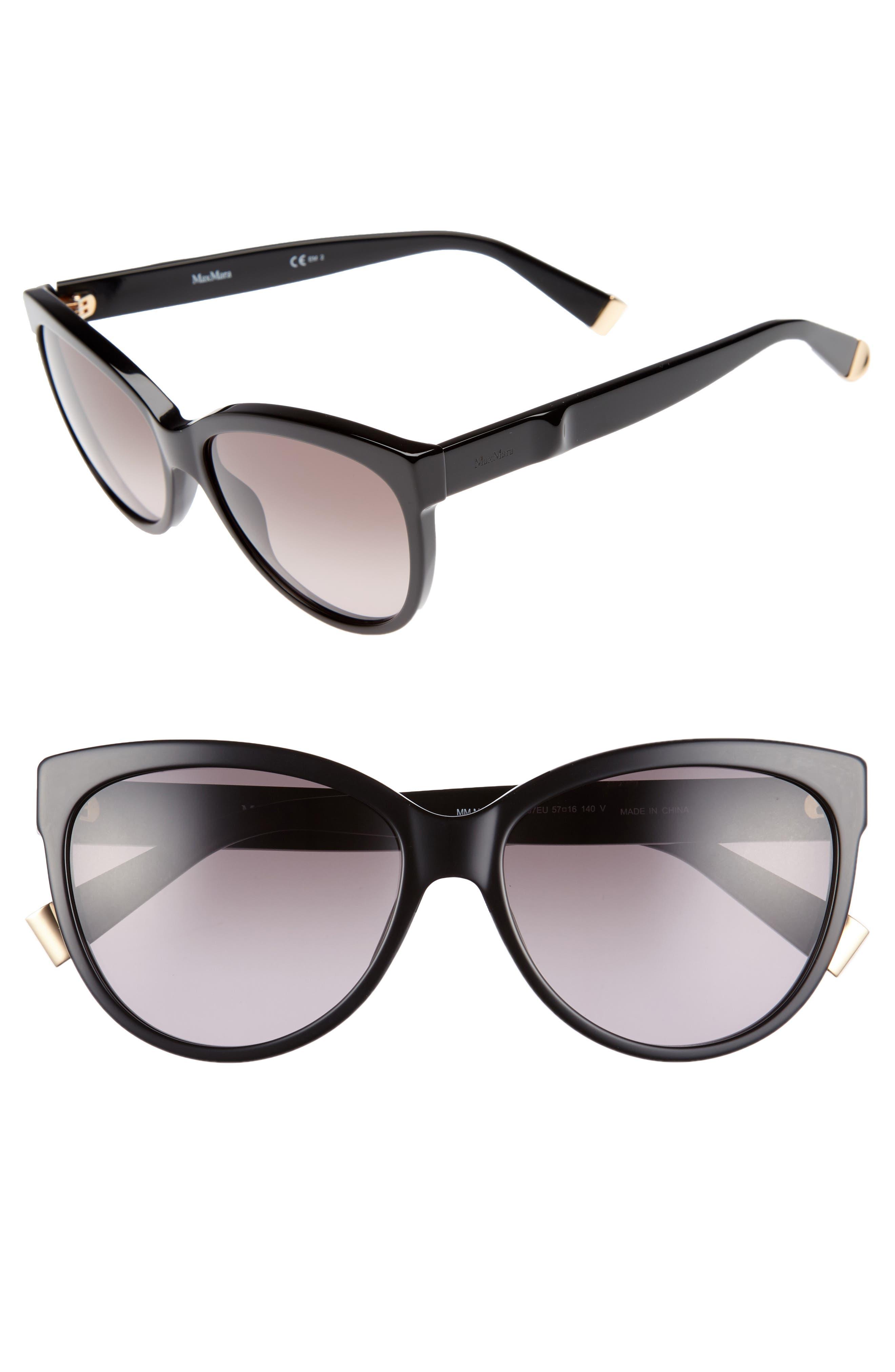 Moderii 57mm Gradient Cat Eye Sunglasses,                         Main,                         color, Black