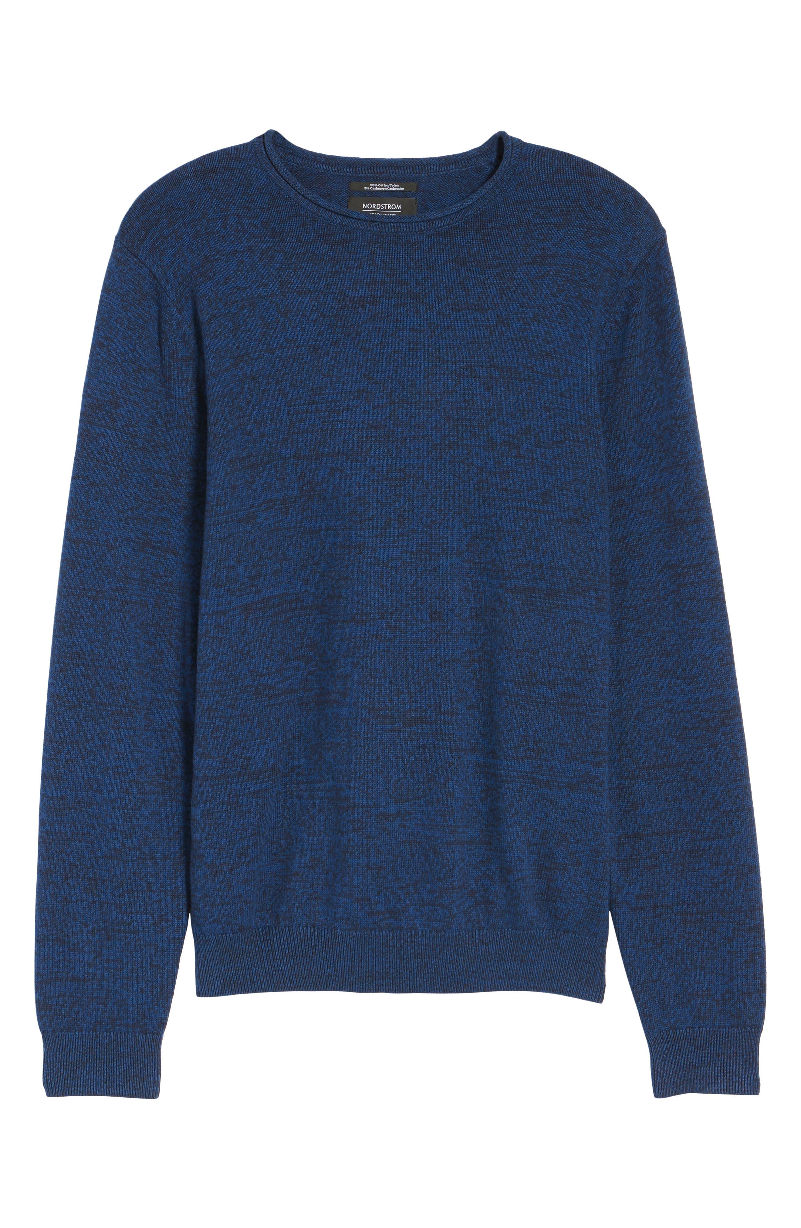 Alternate Image 6  - Nordstrom Men's Shop Cotton & Cashmere Roll Neck Sweater