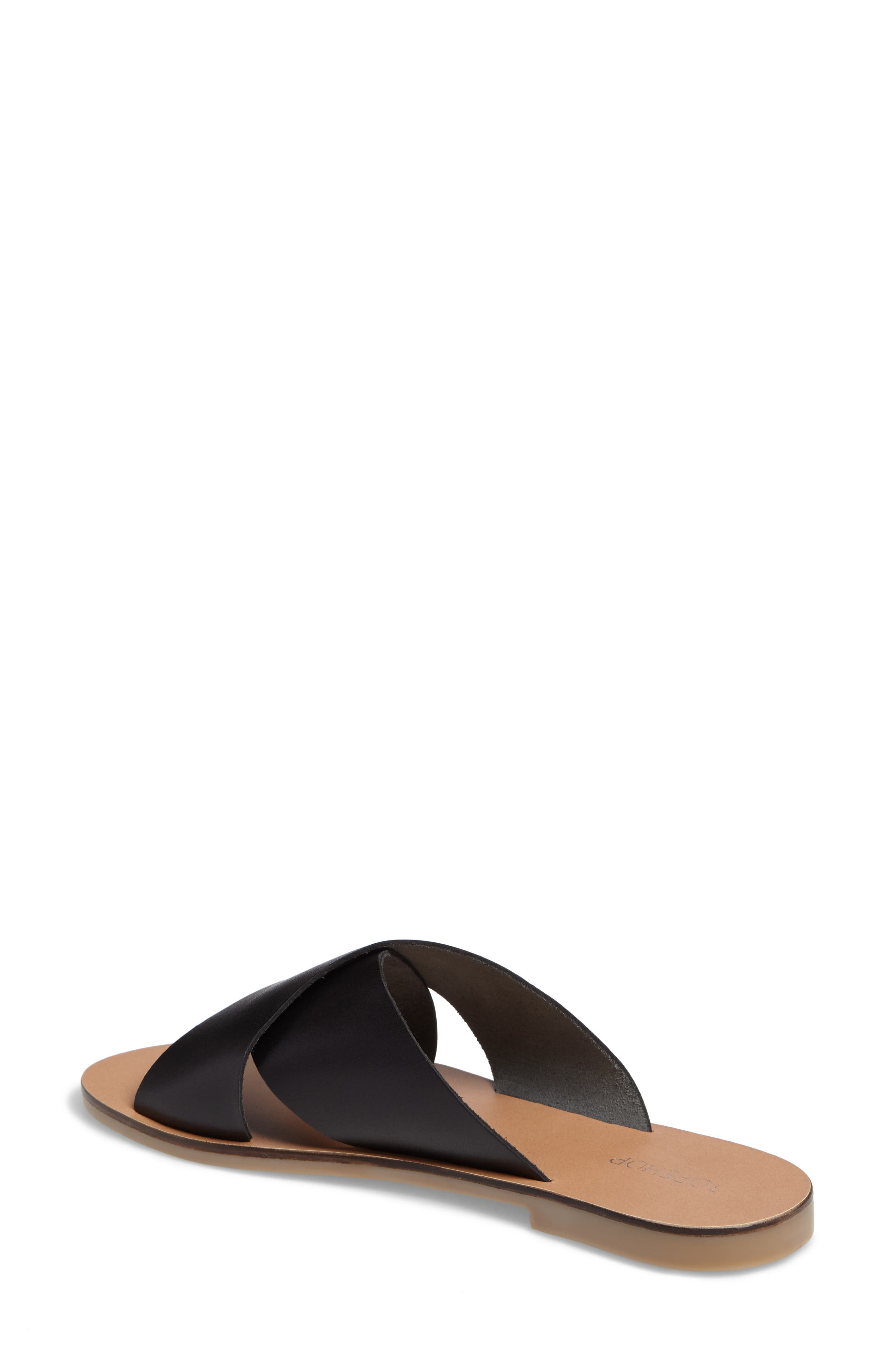 Alternate Image 2  - Topshop Holiday Cross Strap Sandal (Women)