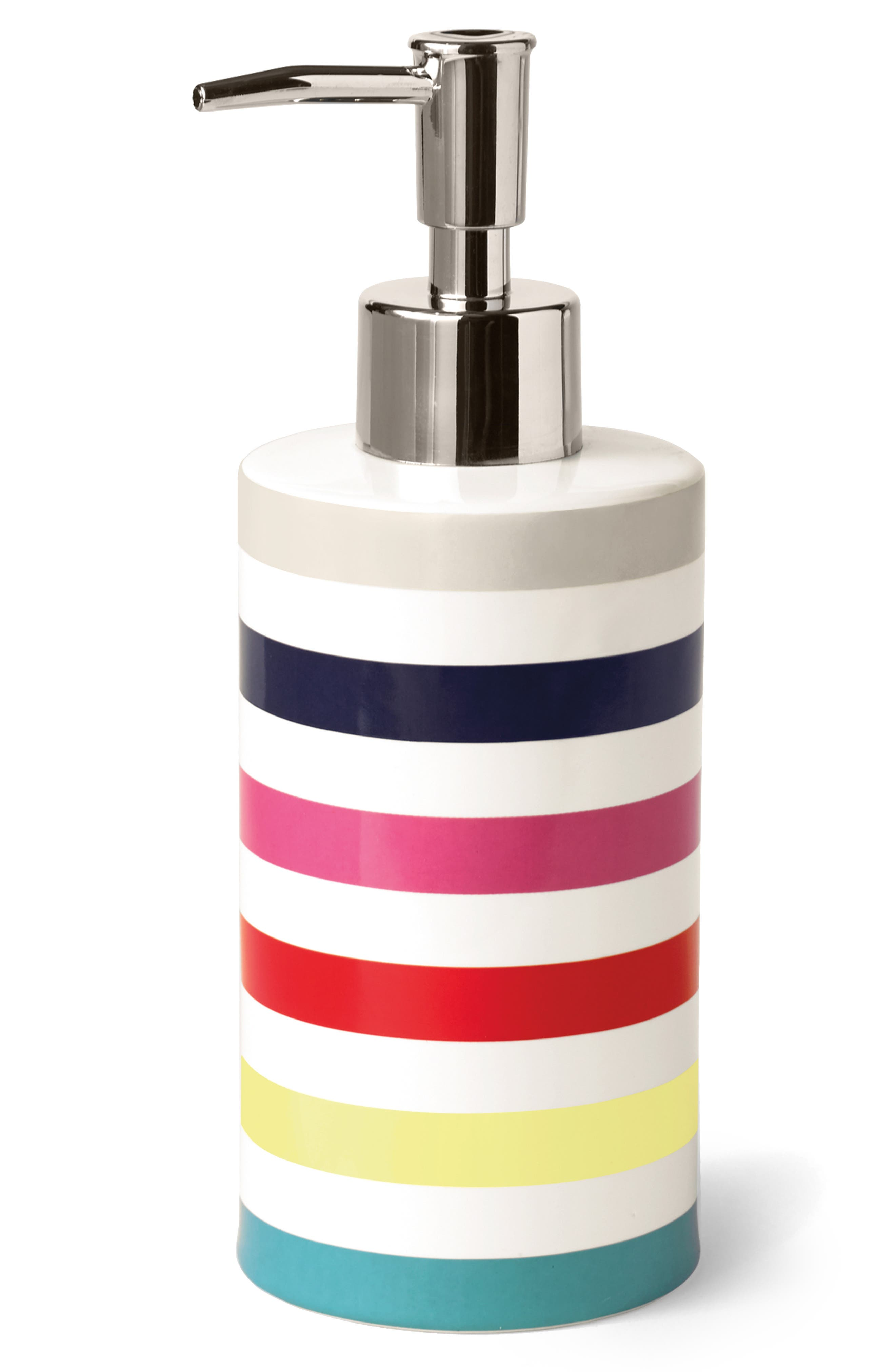 kate spade new york candy stripe lotion dispenser