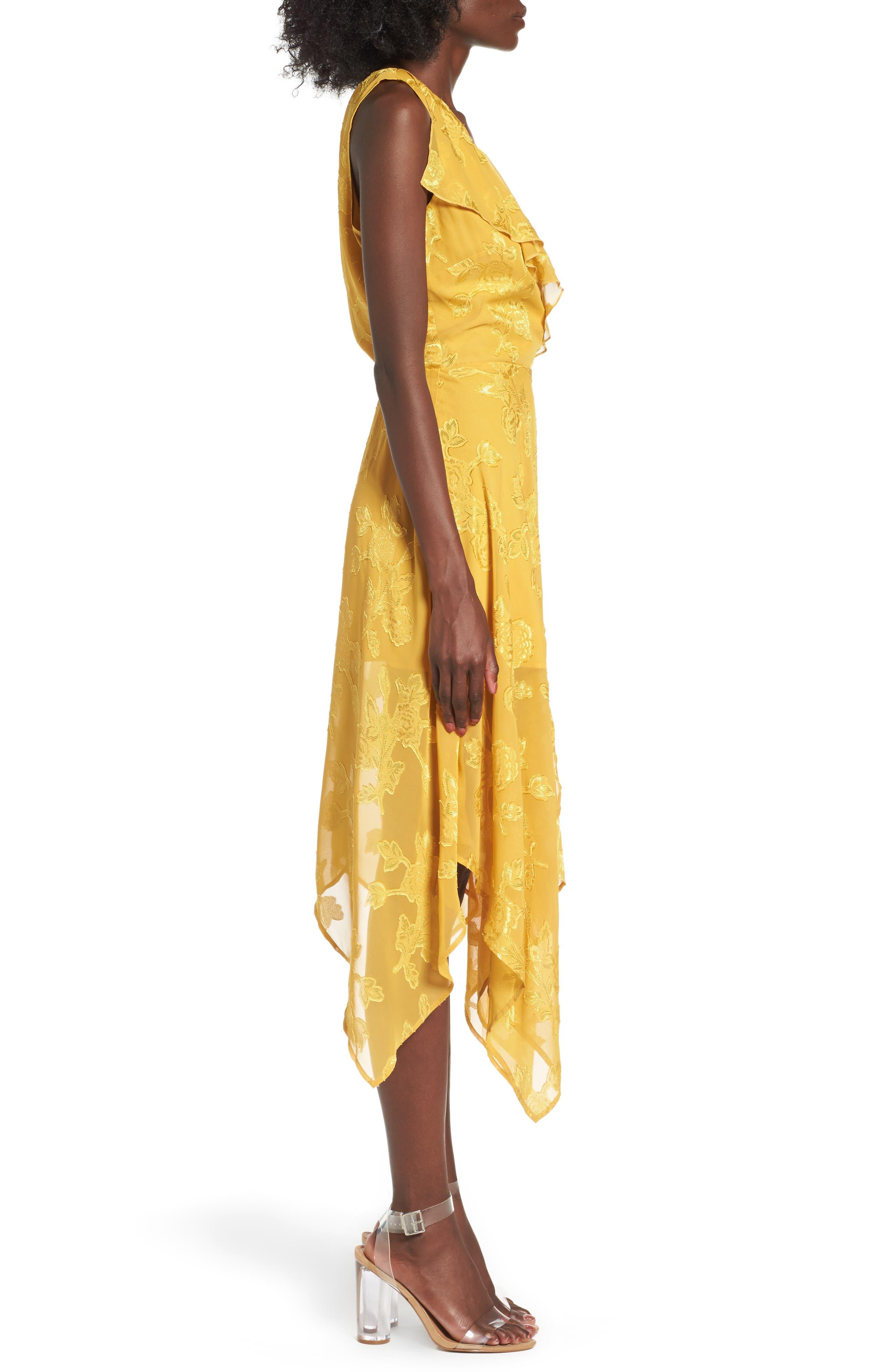 Alternate Image 2  - Leith Handkerchief Hem Faux-Wrap Midi Dress