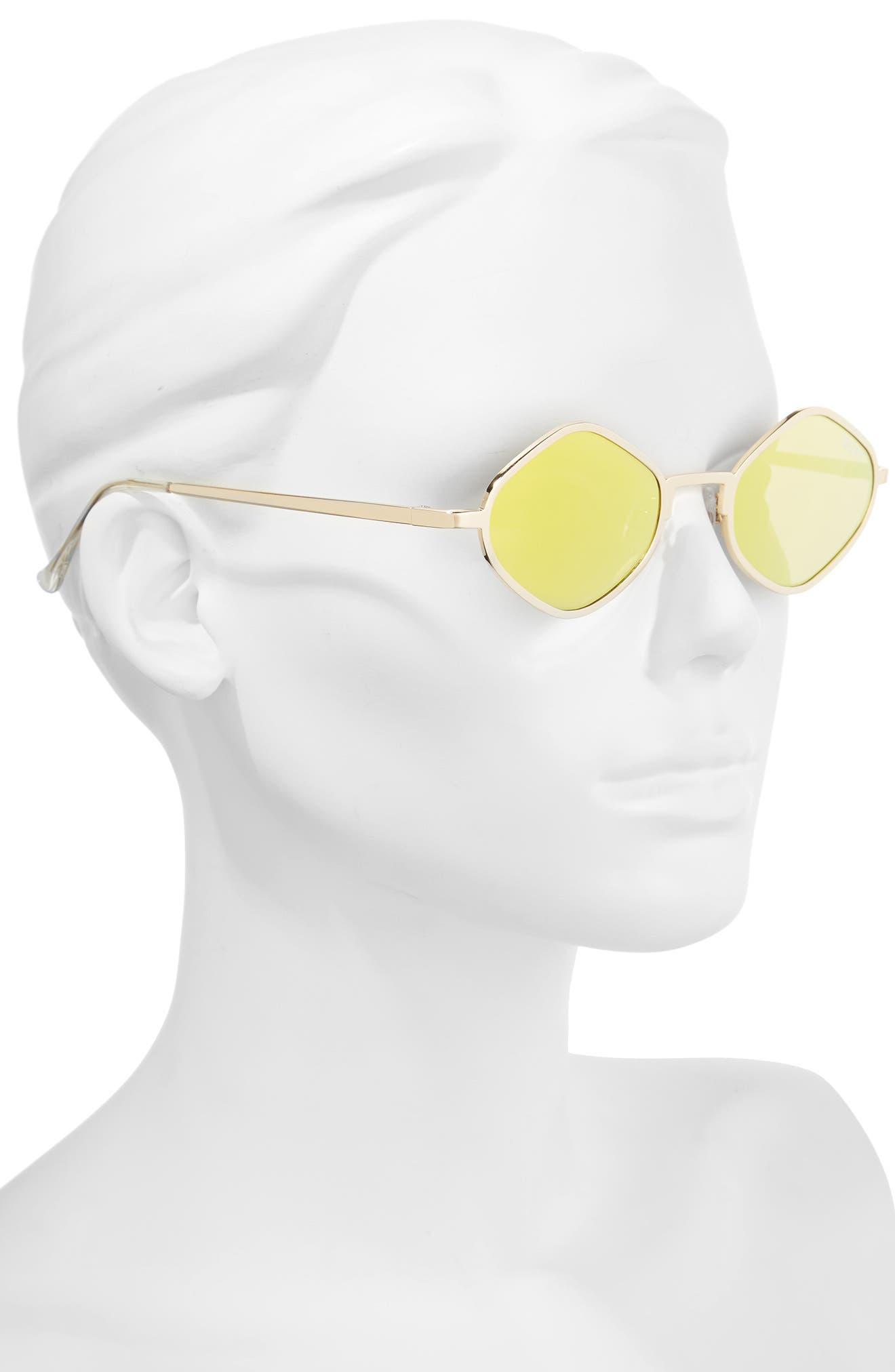 Alternate Image 3  - #QUAYxKYLIE Purple Honey 48mm Geo Sunglasses