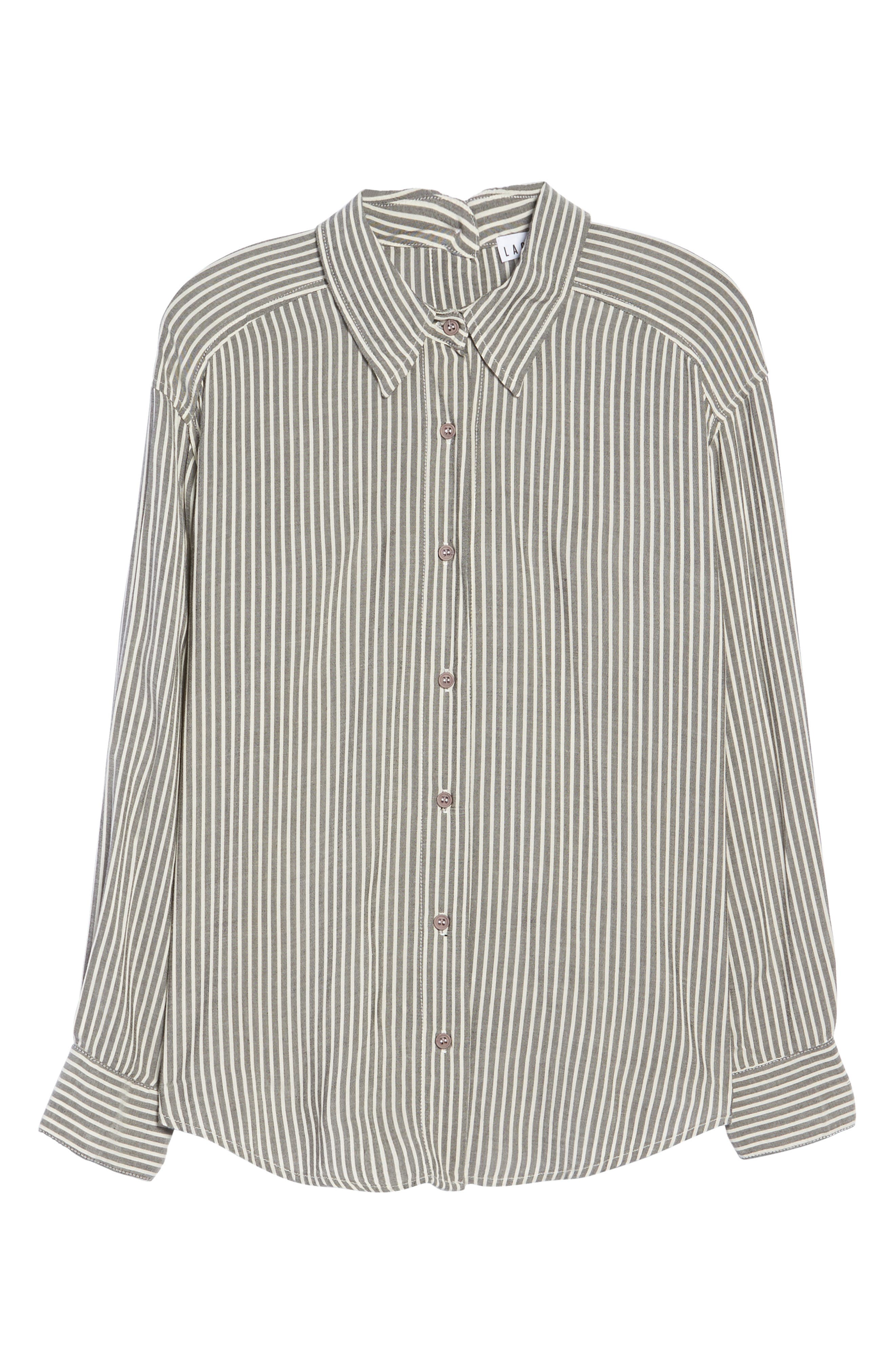 Stripe Top,                             Alternate thumbnail 4, color,                             Grey Stripe