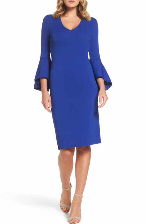 Eliza J Bell Sleeve Sheath Dress (Regular   Petite) 59e4e3fca2